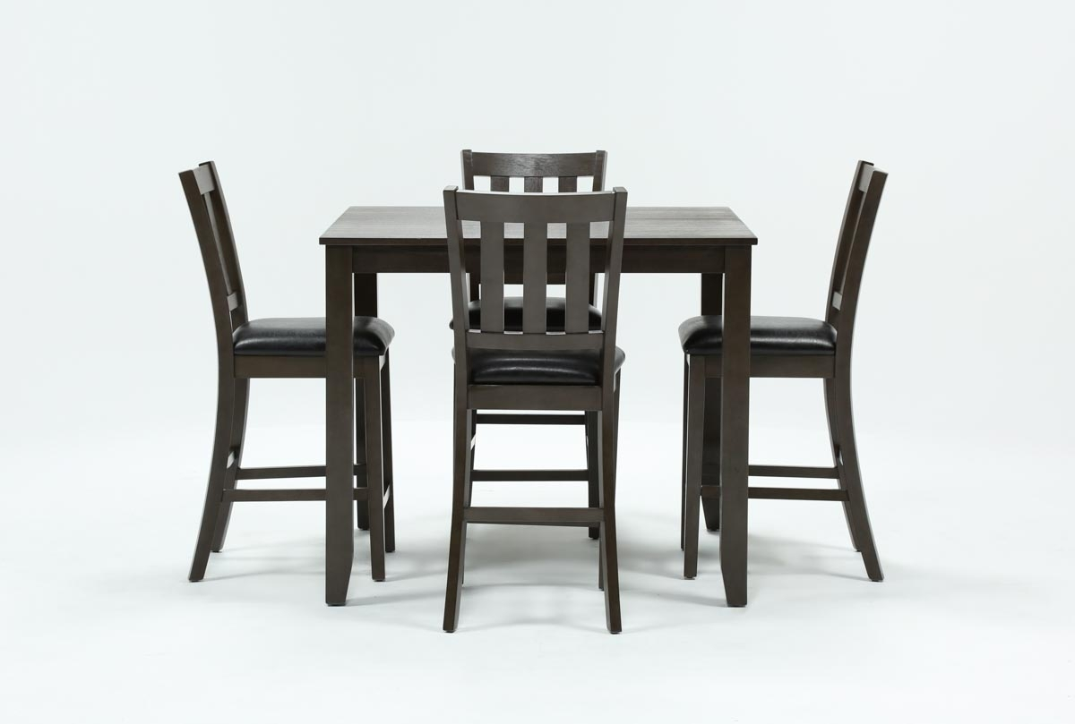 Jensen 5 Piece Counter Set | Living Spaces Intended For Current Jameson Grey 5 Piece Counter Sets (Photo 6 of 20)
