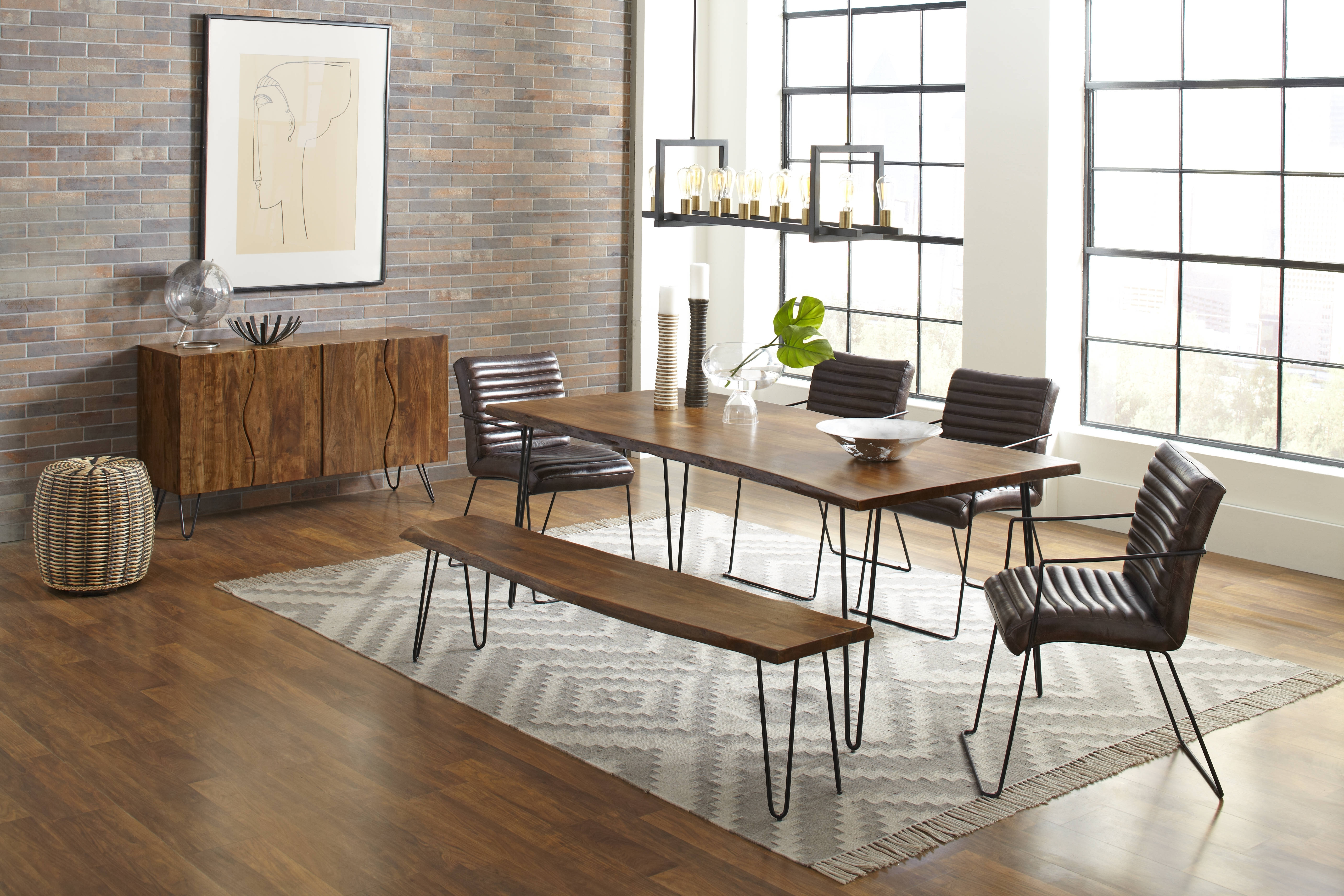 Jofran Furniture Natures Edge 6Pc Dining Room Set With Wyatt Dining Inside 2018 Wyatt Dining Tables (Photo 17 of 20)