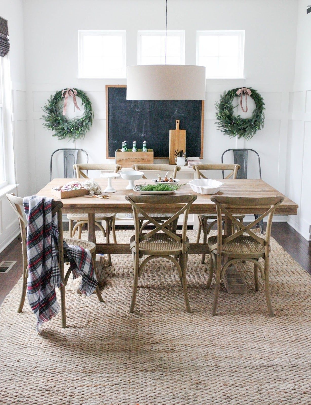 Jute Rug From Rugs Usa; Dining Table From World Market; Chairs From For 2018 Market Dining Tables (Image 12 of 20)