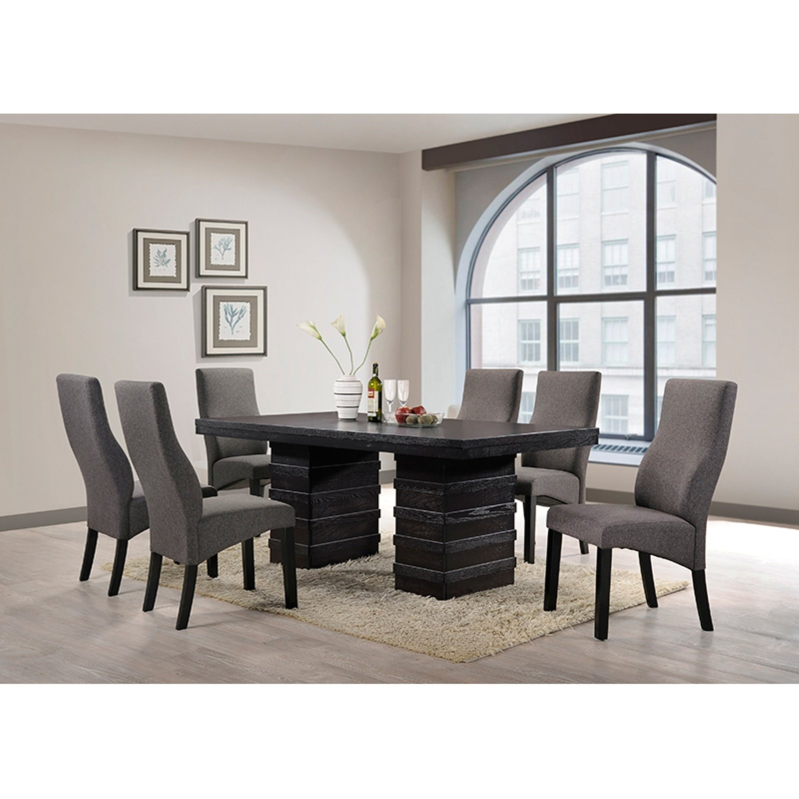 K & B Furniture Norwood Dining Table – Walmart Within Newest Norwood 6 Piece Rectangle Extension Dining Sets (Image 6 of 20)