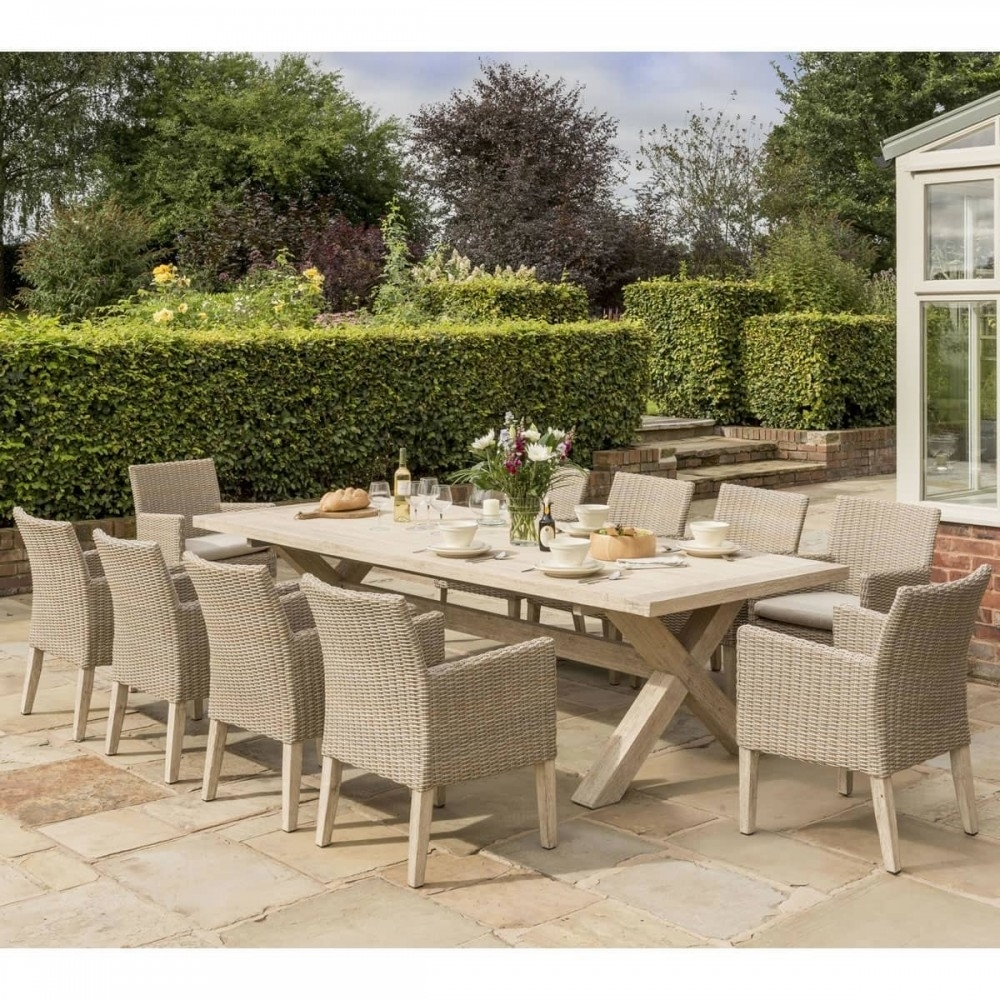 Kettler Cora 10 Seat Rectangular Square Chair Garden Dining Set Regarding Most Recently Released Cora Dining Tables (View 10 of 20)