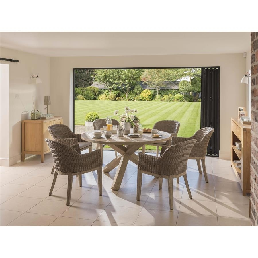 Kettler Cora 150Cm Round Dining Table Wi Within Newest Cora Dining Tables (View 8 of 20)