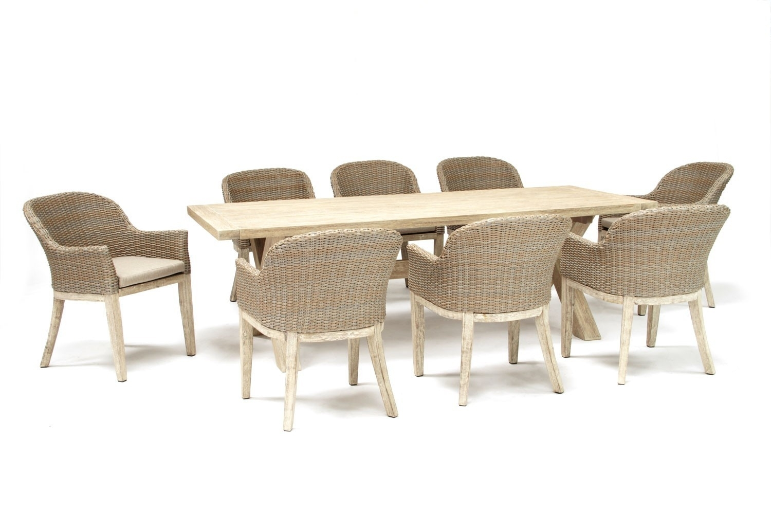 Kettler Cora 240X100Cm 8 Seat Dining Set Avec Huc23430 Cora Round For Most Popular Cora Dining Tables (View 15 of 20)