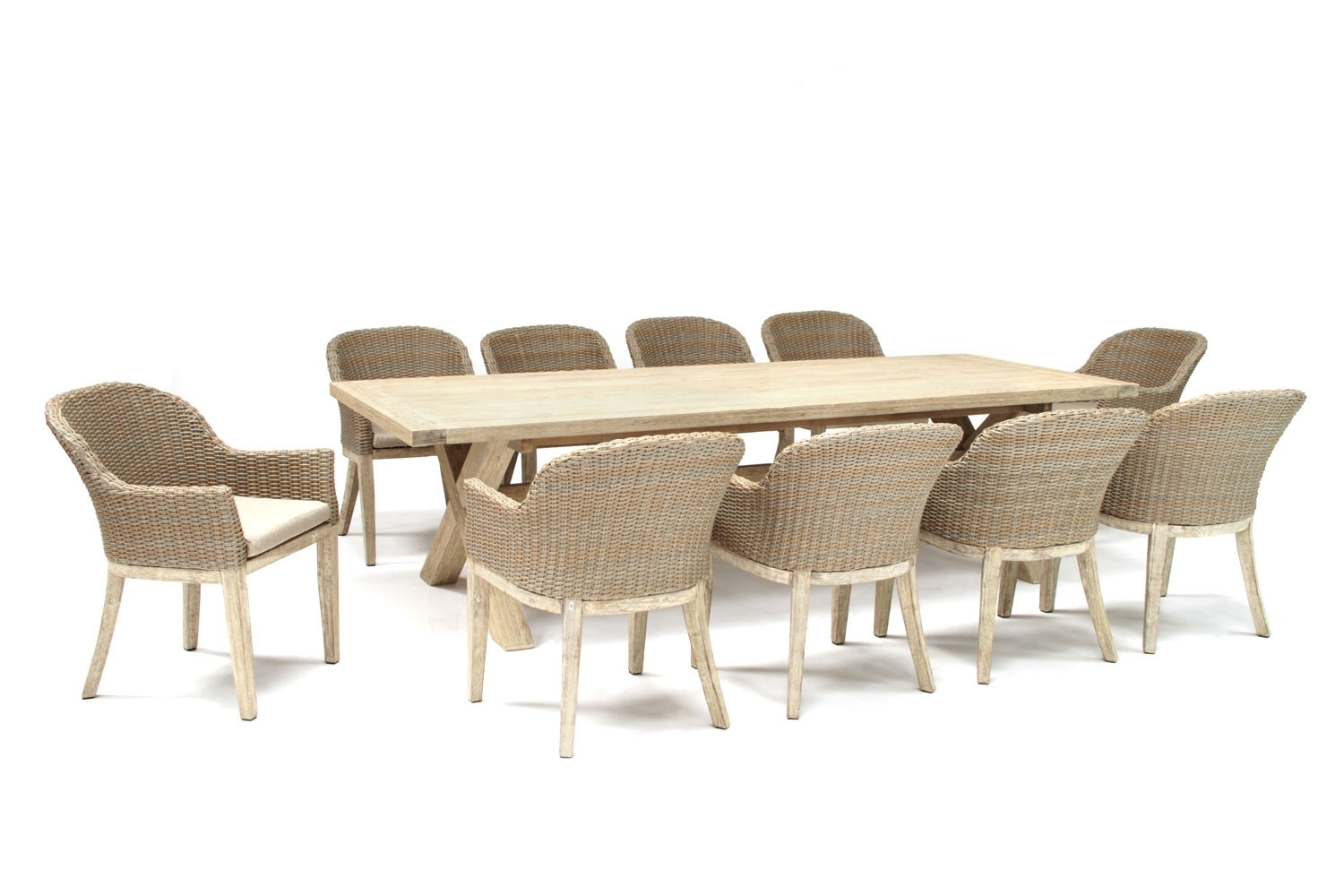 Kettler Cora 280X100Cm 10 Seat Dining Set Throughout Most Recently Released Cora Dining Tables (View 5 of 20)