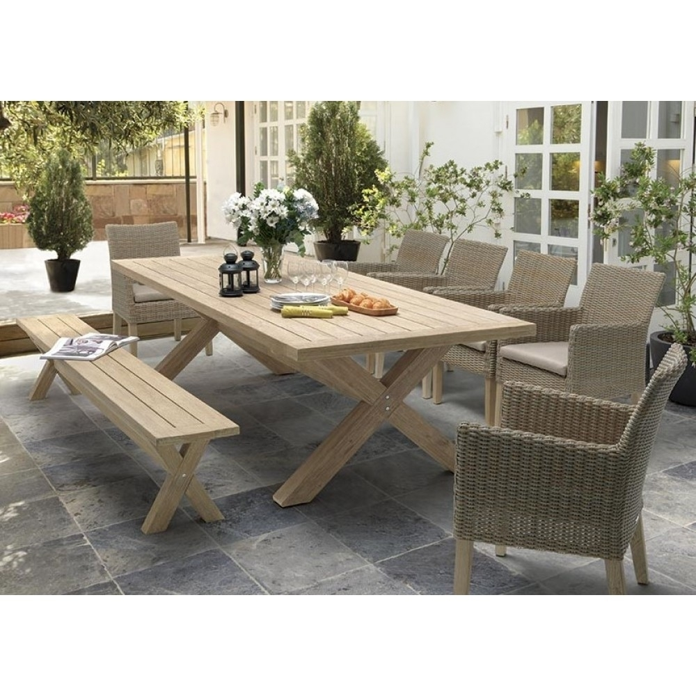 Kettler Cora 8 Seat Rectangular Bench Dining Set | Kettler Garden Within Current Cora Dining Tables (View 7 of 20)