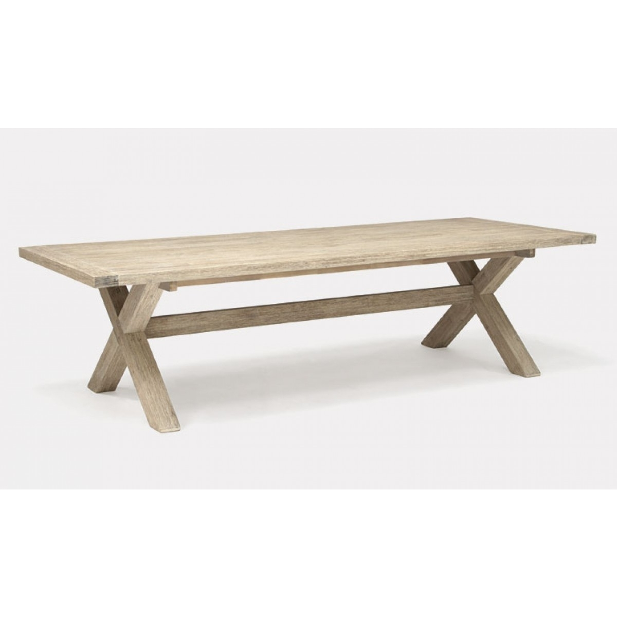 Kettler Cora Rectangular Dining Table 280 X 110 Cross Leg Best Price Pertaining To Most Recently Released Cora Dining Tables (View 3 of 20)