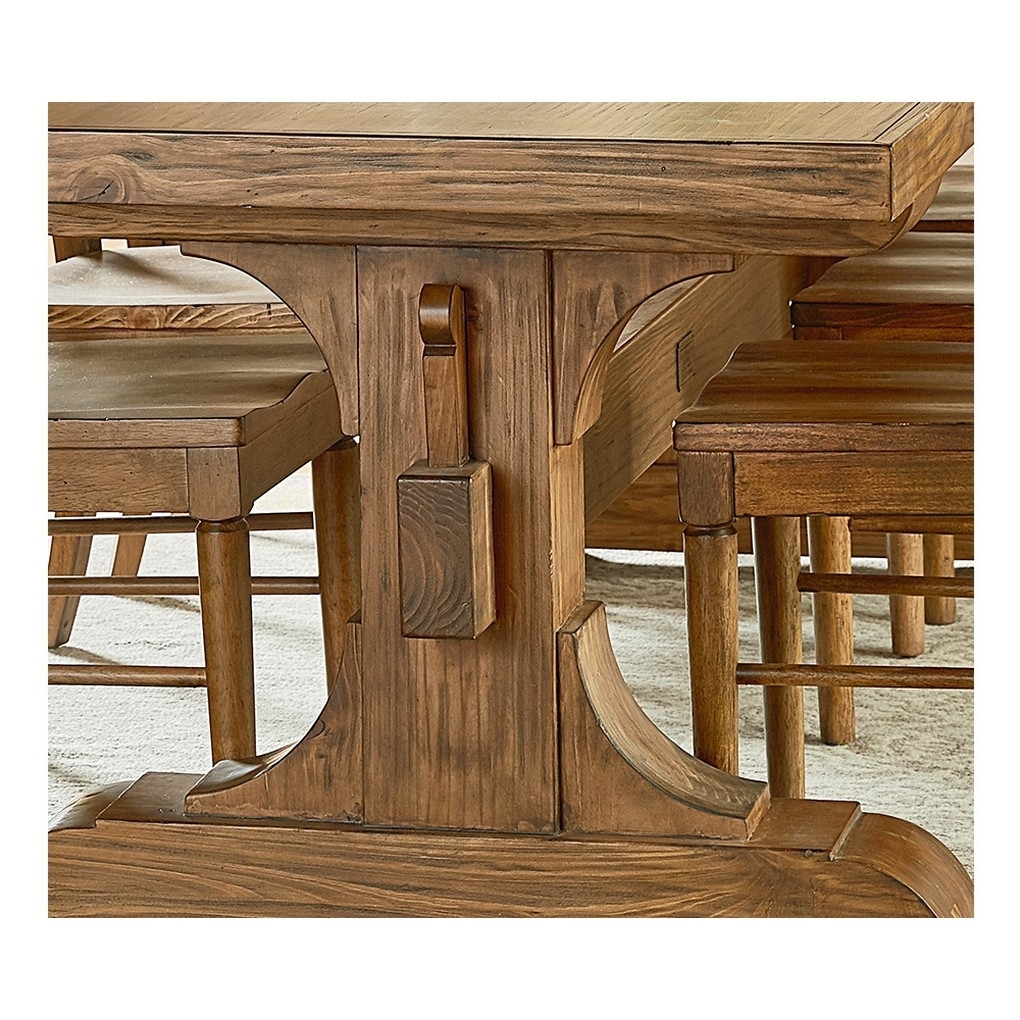 Keyed Trestle Table – Tables – Magnolia Home | The Design Network Pertaining To Most Popular Magnolia Home Sawbuck Dining Tables (Image 8 of 20)
