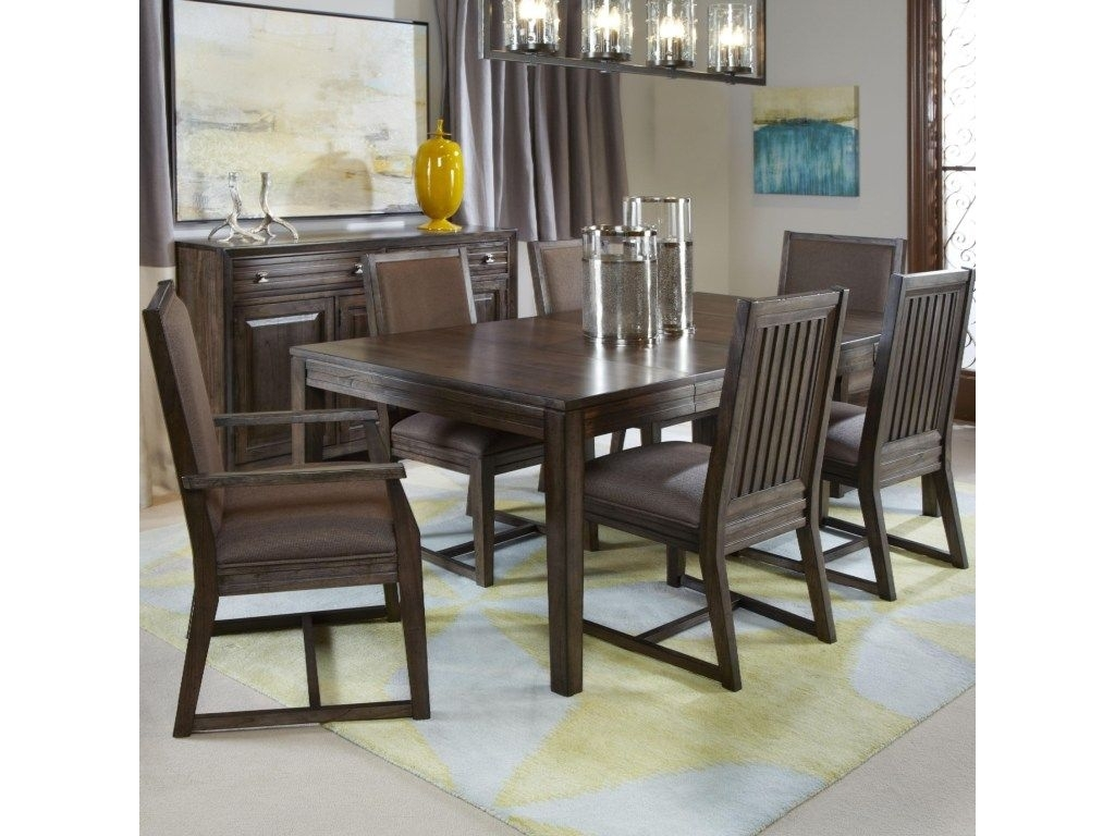 Kincaid Furniture Montreat7 Pc Formal Dining Set | Home Decor In For Latest Norwood 6 Piece Rectangular Extension Dining Sets With Upholstered Side Chairs (Image 8 of 20)