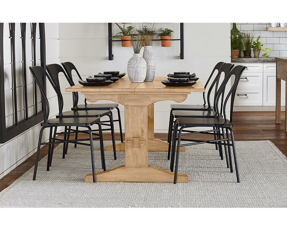 Kindred Trestle Dining Table From Magnolia Home | Magnolia Home Regarding Recent Magnolia Home Sawbuck Dining Tables (Image 9 of 20)