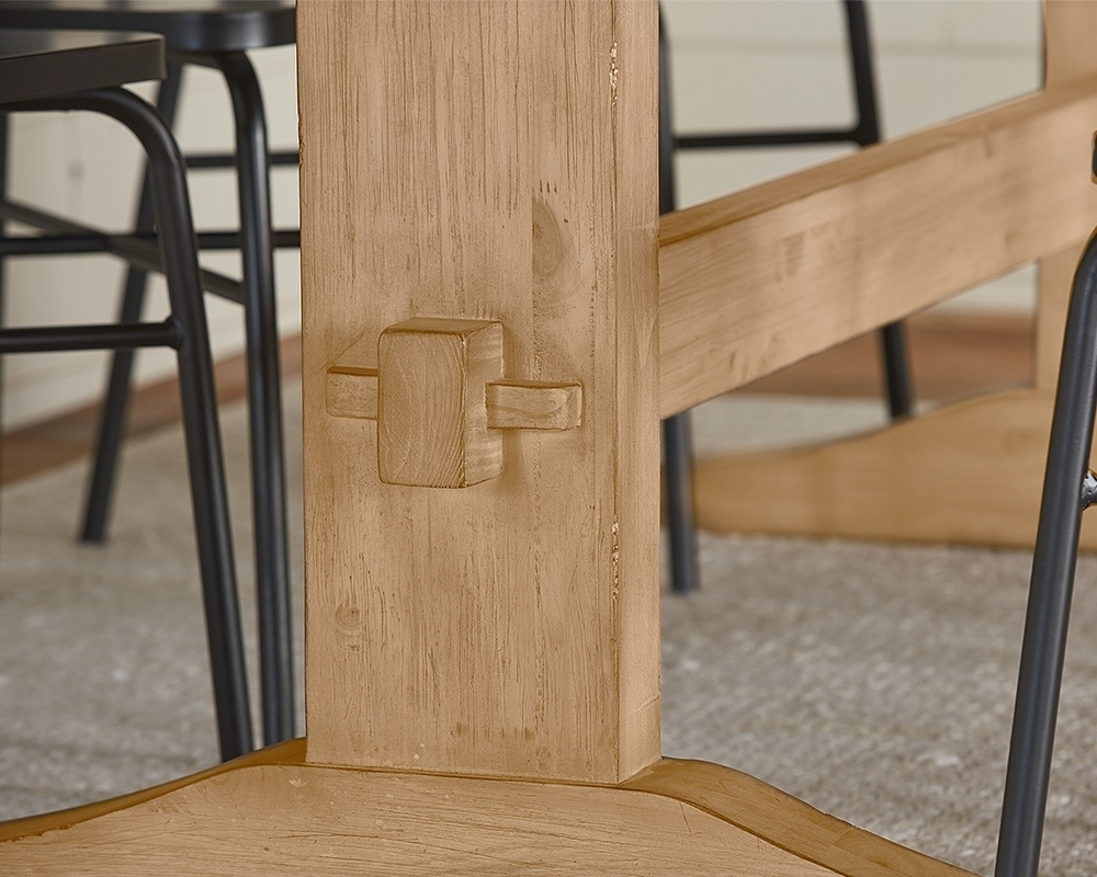 Kindred Trestle Table – Magnolia Home Intended For Newest Magnolia Home Sawbuck Dining Tables (Image 10 of 20)