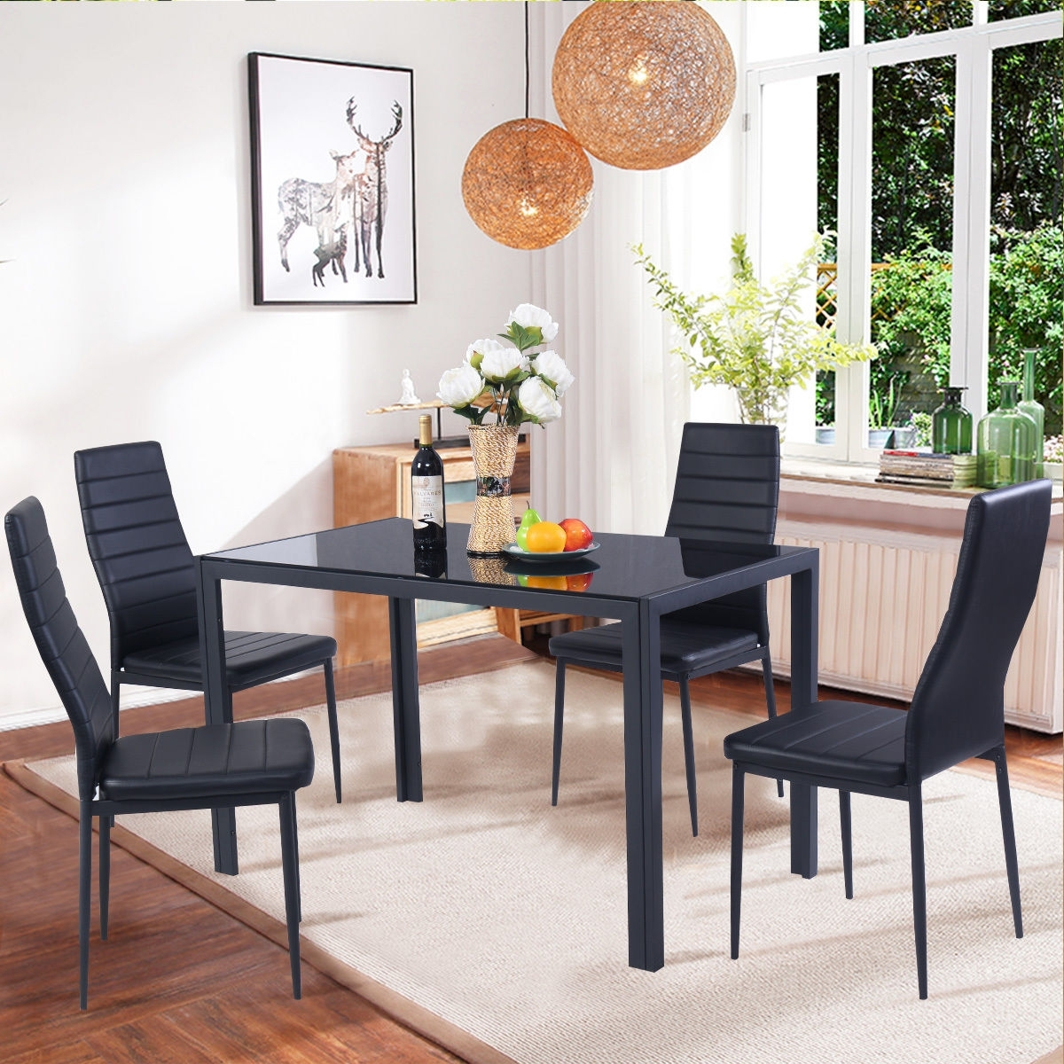 Kitchen Protector Lewis Dining Ideas Tables Black Square Round Set Intended For Best And Newest Delfina 7 Piece Dining Sets (Image 15 of 20)