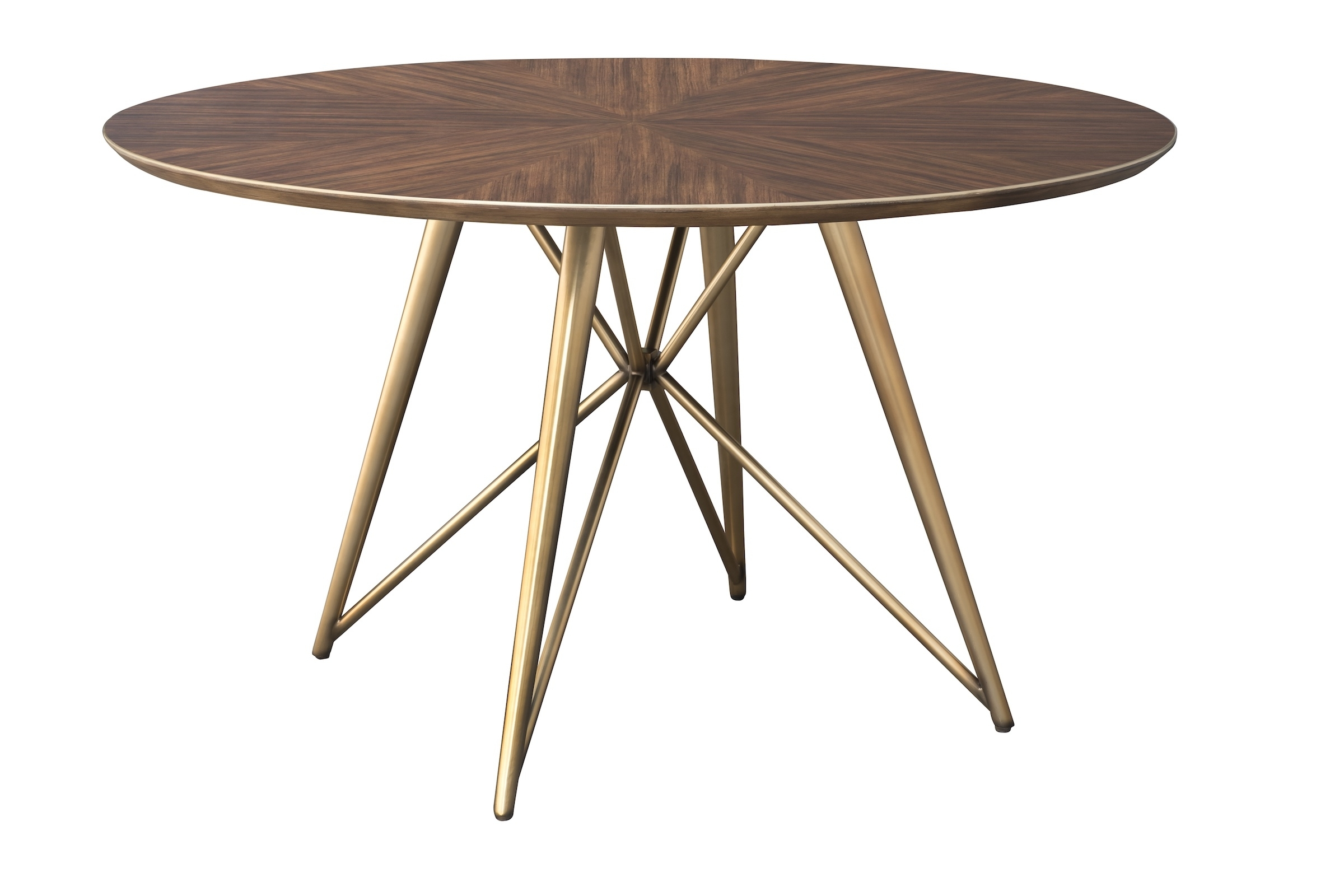 Konrad 60 Inch Round Wood And Brass Round Dining Table Within Most Popular Portland 78 Inch Dining Tables (Image 10 of 20)