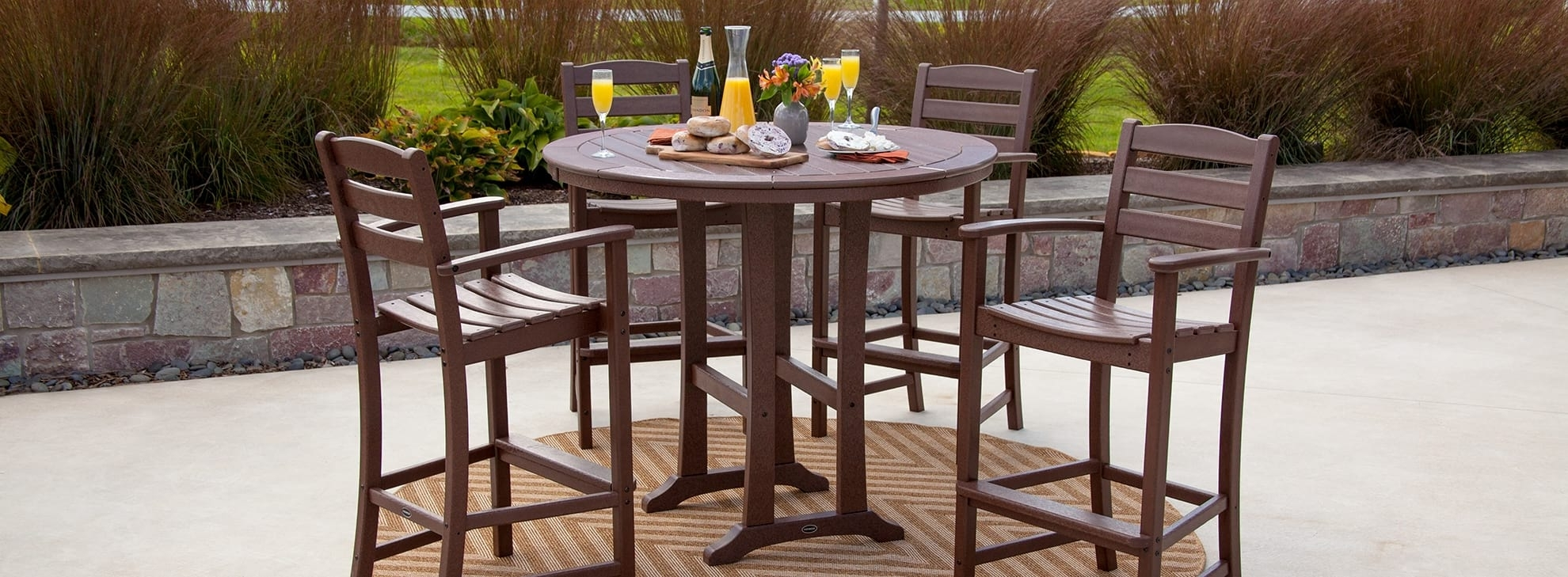 La Casa Café – Collections | Polywood® Official Store For Most Recently Released Craftsman 5 Piece Round Dining Sets With Side Chairs (Image 14 of 20)