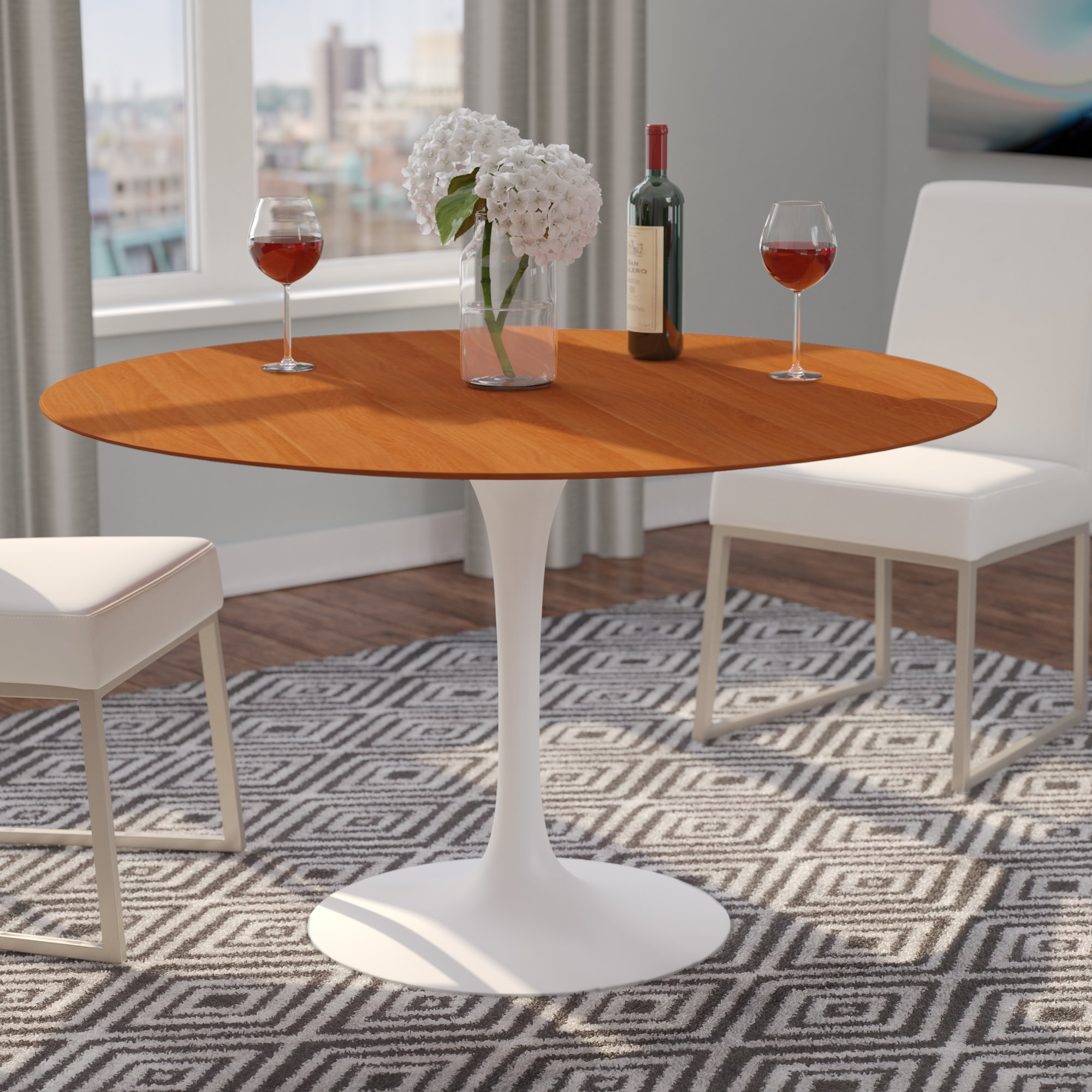 Langley Street Larkson Round Dining Table | Wayfair Inside 2018 Jefferson Extension Round Dining Tables (Image 12 of 20)