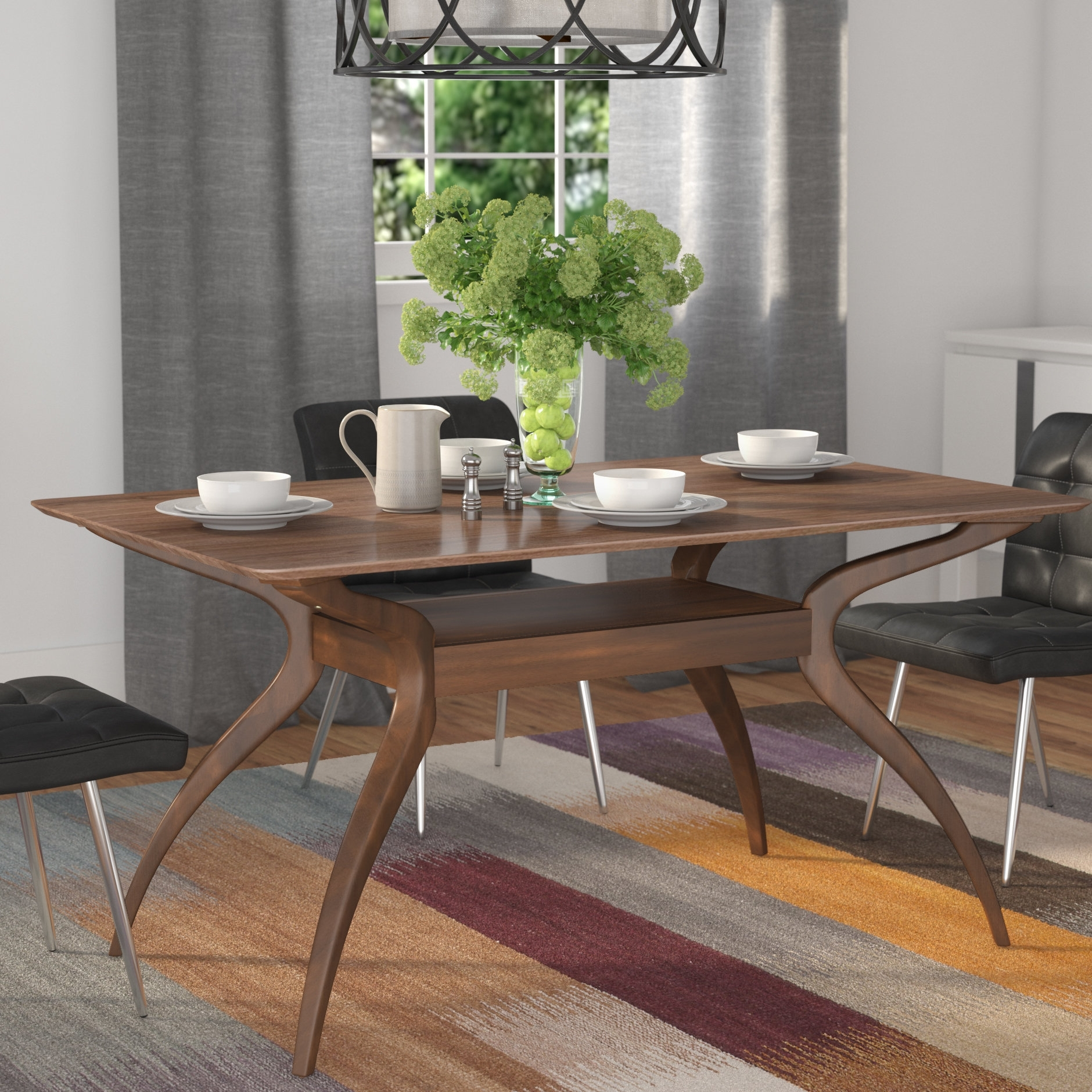 Langley Street Paterson Dining Table & Reviews | Wayfair Within Most Recently Released Patterson 6 Piece Dining Sets (Photo 10 of 20)