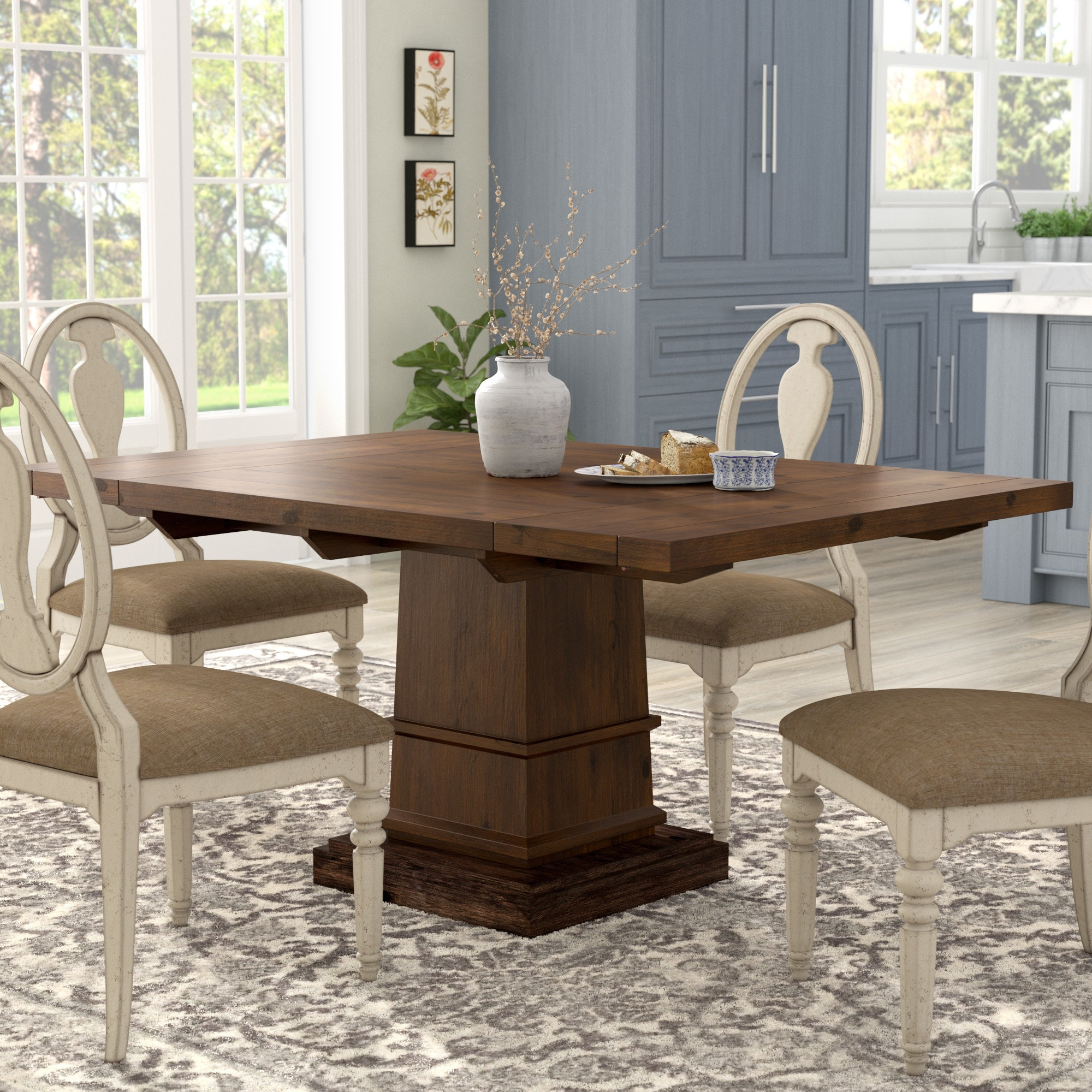 Lark Manor Parfondeval Extendable Dining Table & Reviews | Wayfair Pertaining To Recent Amos 6 Piece Extension Dining Sets (Image 18 of 20)