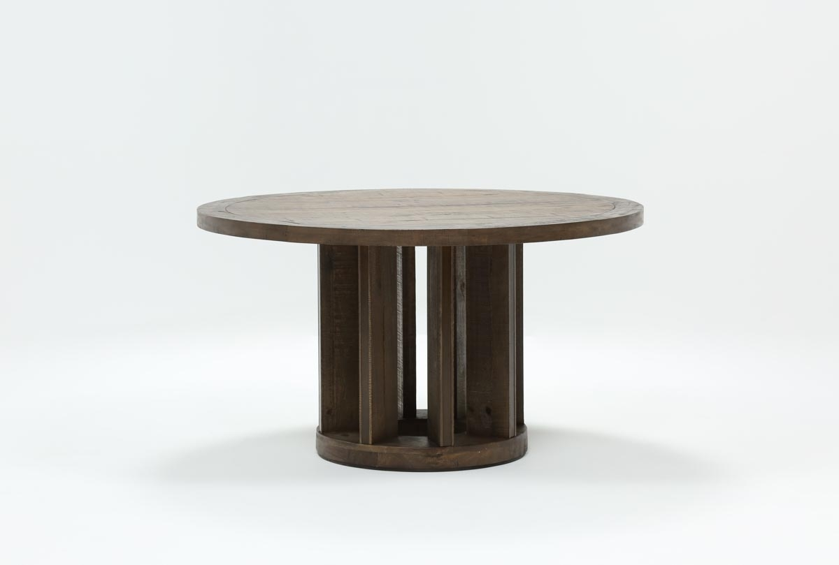 Lassen Round Dining Table | Living Spaces With Current Lassen Extension Rectangle Dining Tables (Photo 3 of 20)