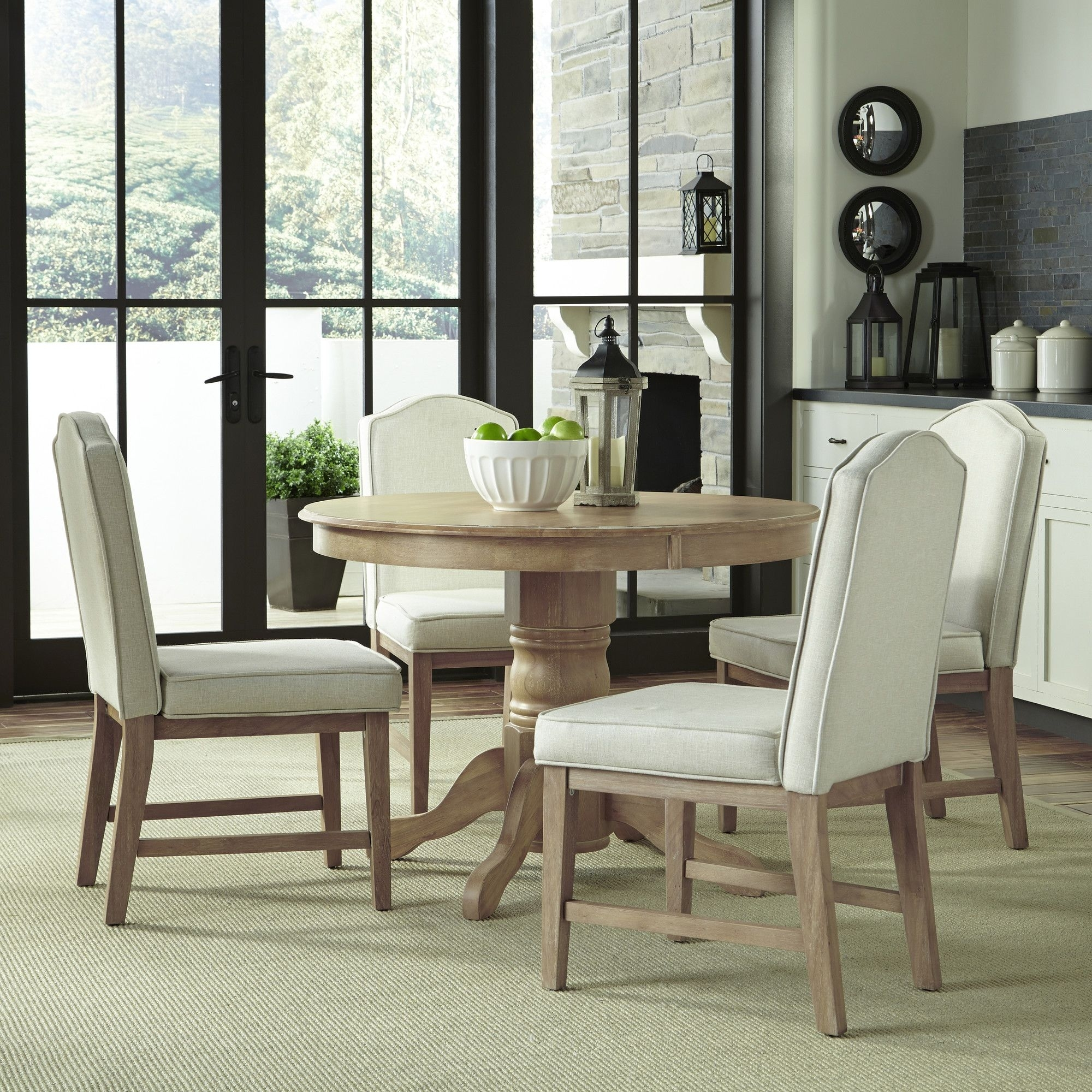 Featured Image of Laurent 5 Piece Round Dining Sets With Wood Chairs