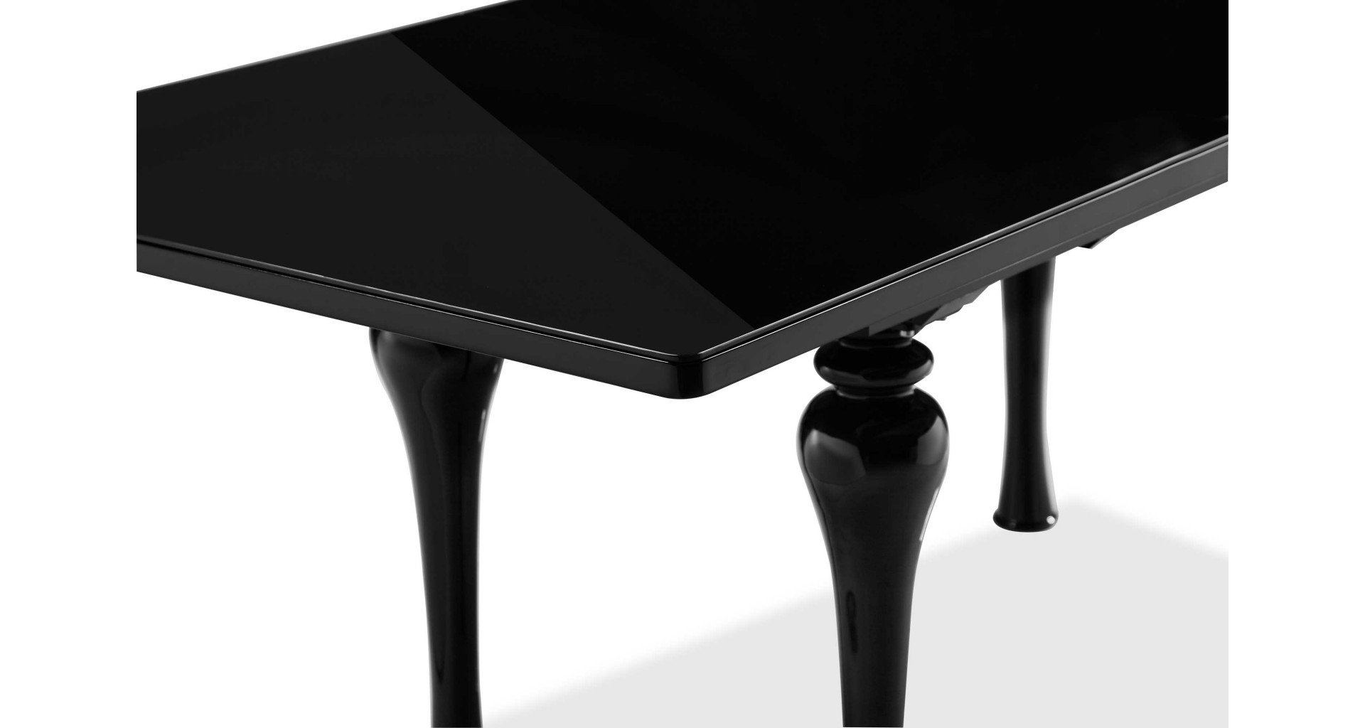 Laurent – Extending Dining Table Black Throughout Latest Laurent Rectangle Dining Tables (Image 7 of 20)