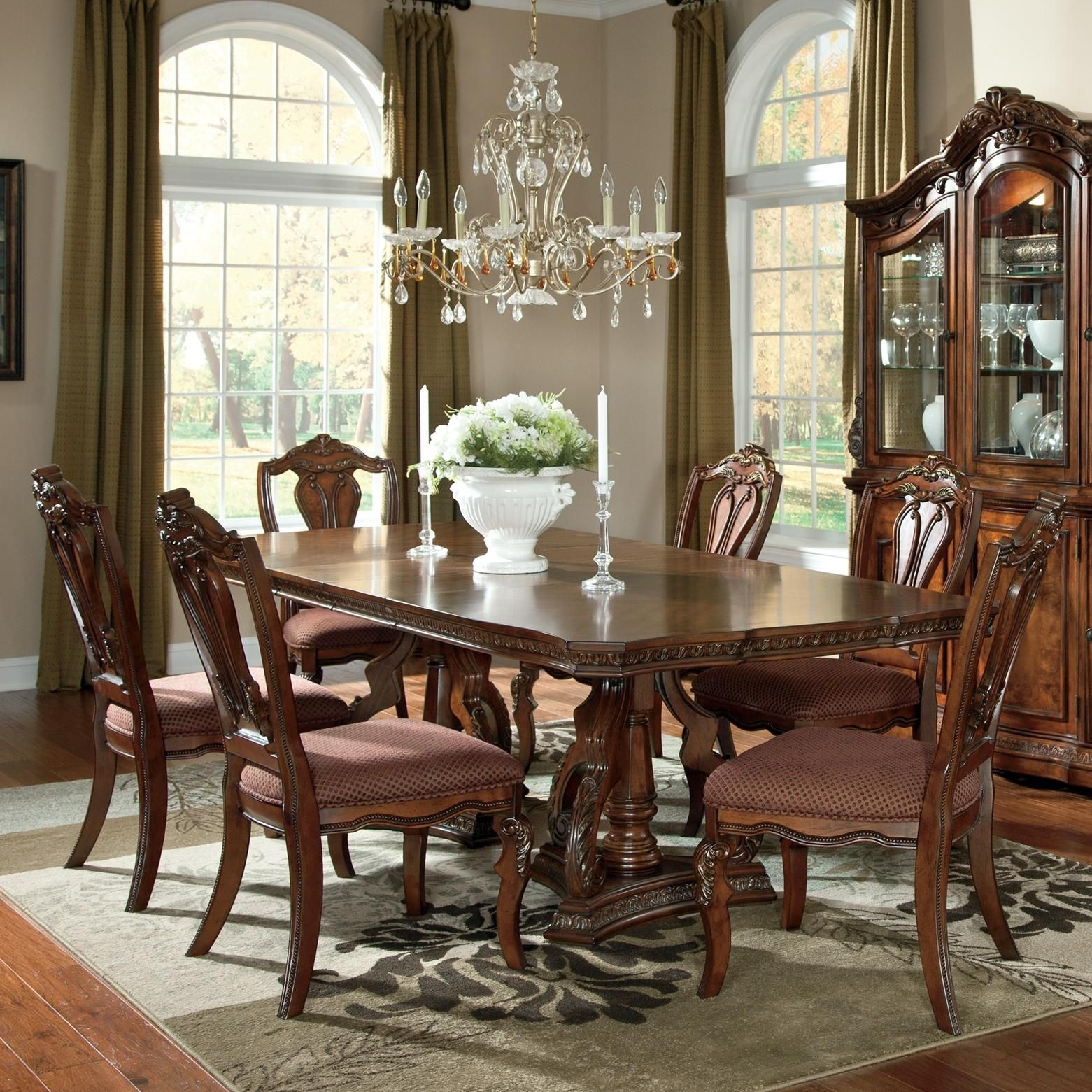 Ledelle 7 Piece Rectangular Table Setashley Millennium | New Throughout Most Popular Market 7 Piece Dining Sets With Side Chairs (Photo 8 of 20)