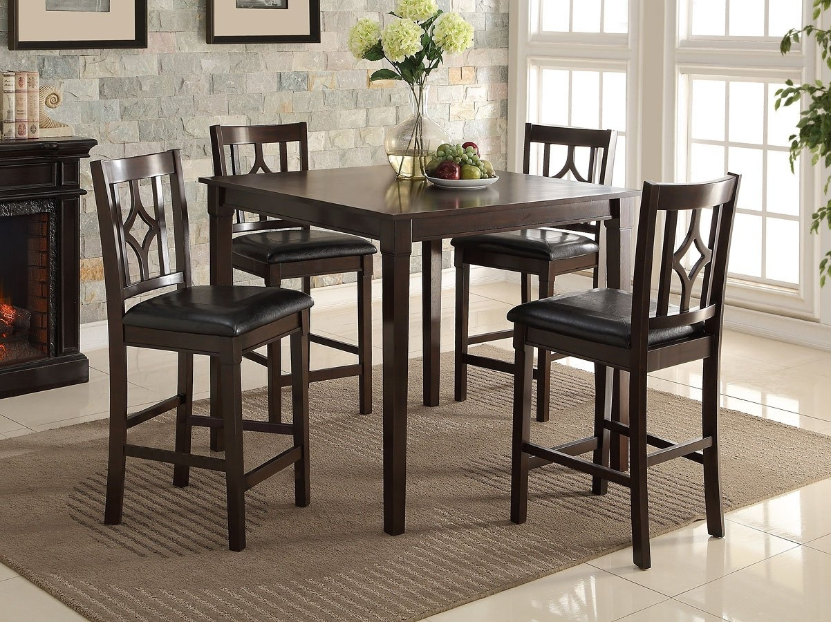 Leon 5 Piece Counter Height Dining Set Crown Mark Furniture Throughout Most Popular Leon 7 Piece Dining Sets (View 5 of 20)