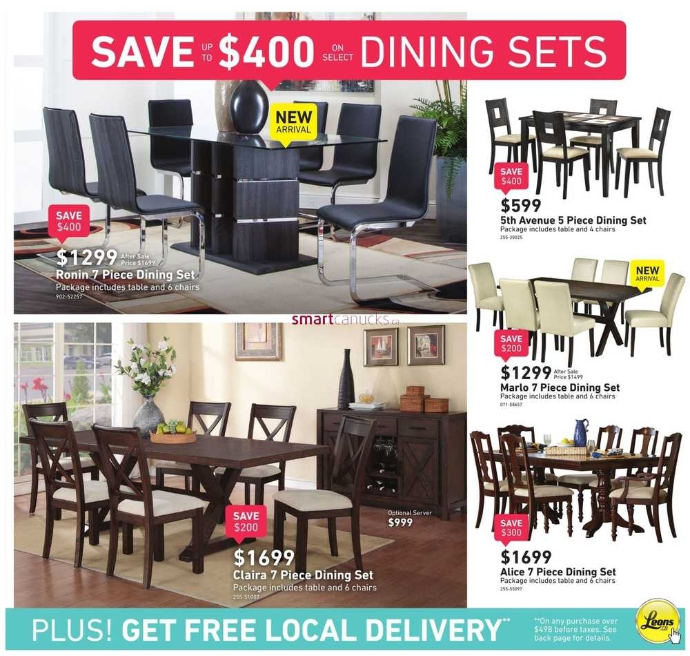 Leon's Flyer April 20 To May 3 With Most Recent Leon 7 Piece Dining Sets (View 14 of 20)