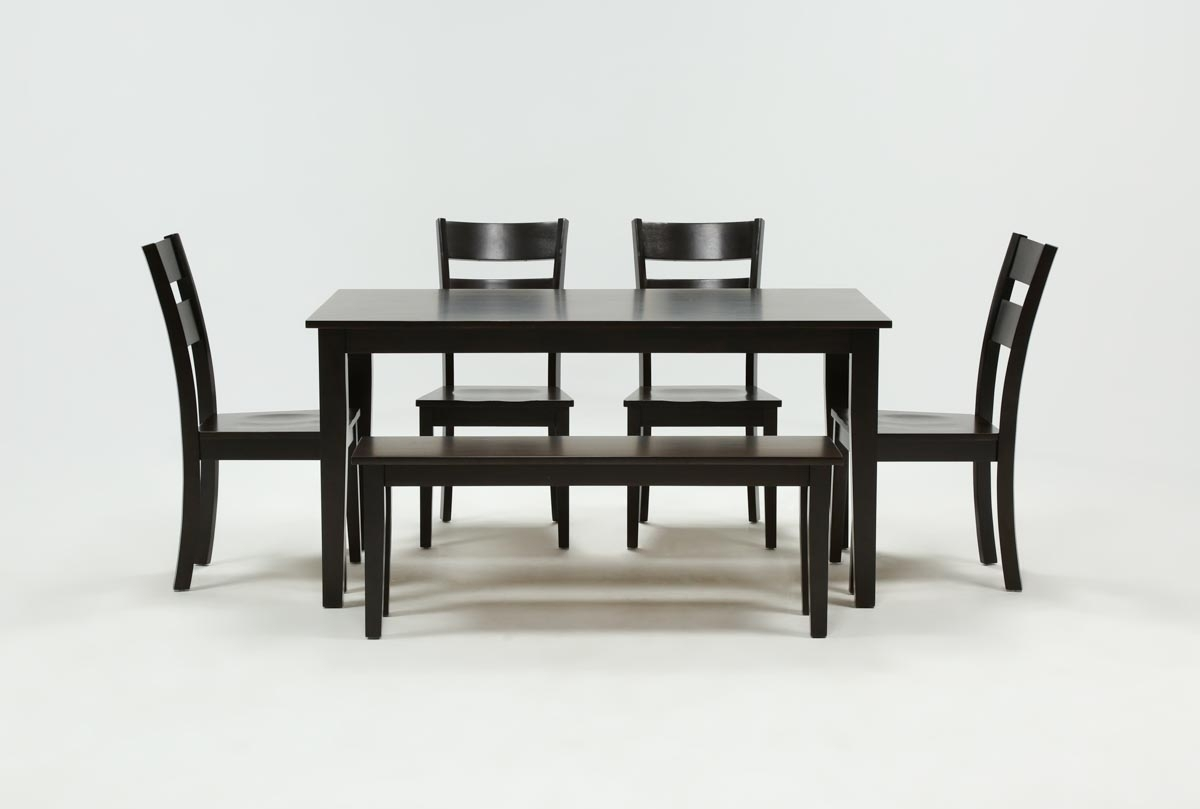 Lindy 6 Piece Espresso Rectangle Dining Set | Living Spaces In Most Recent Lindy Espresso Rectangle Dining Tables (Photo 2 of 20)