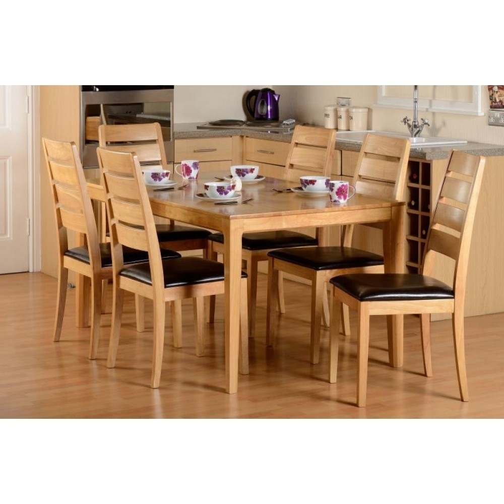 Logan 1+6 Dining Set In Most Current Logan 6 Piece Dining Sets (Image 6 of 20)