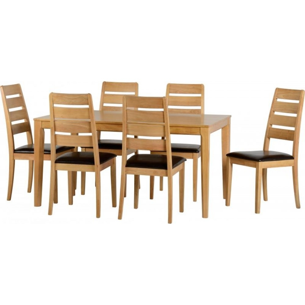 Logan 1+6 Dining Set Intended For Most Recently Released Logan 6 Piece Dining Sets (Image 7 of 20)