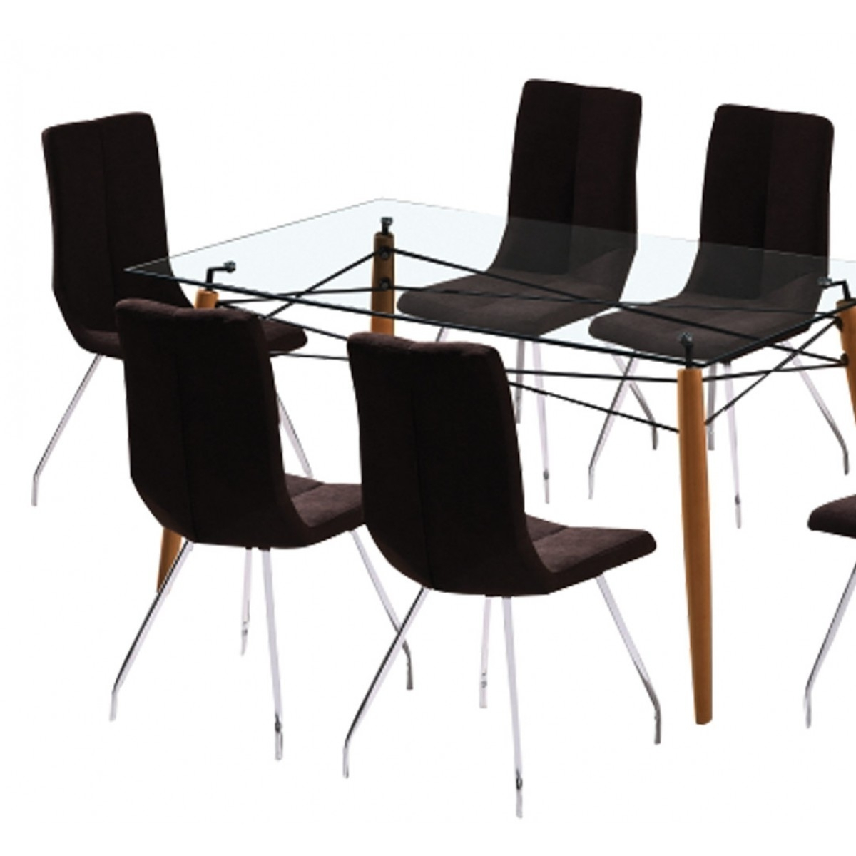 Logan 7 Piece Dining Set | Damro Within Current Logan 7 Piece Dining Sets (Image 8 of 20)