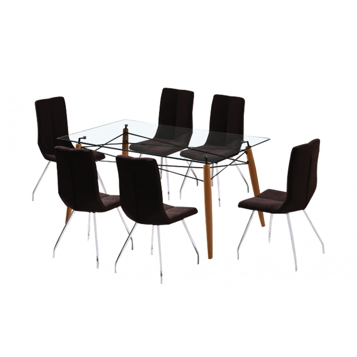 Logan 7 Piece Dining Set | Damro Within Latest Logan 7 Piece Dining Sets (Image 9 of 20)