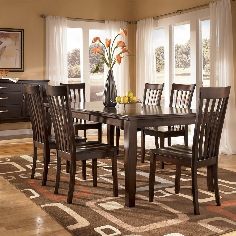 Logan 7 Piece Rectangular Table Dining Setashley Furniture With 2017 Logan 7 Piece Dining Sets (Image 10 of 20)