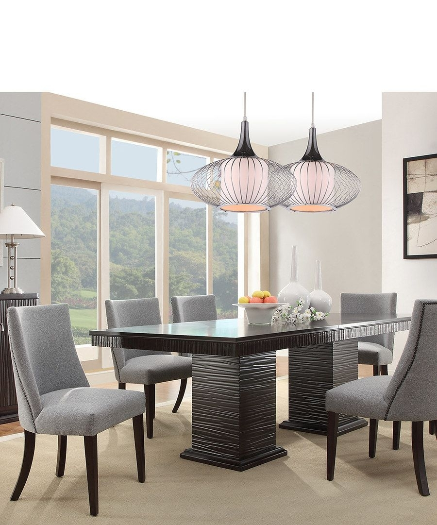 Look At This Espresso & Gray Mid Century Modern Seven Piece Dining In Current Chapleau Ii 9 Piece Extension Dining Tables With Side Chairs (View 9 of 20)