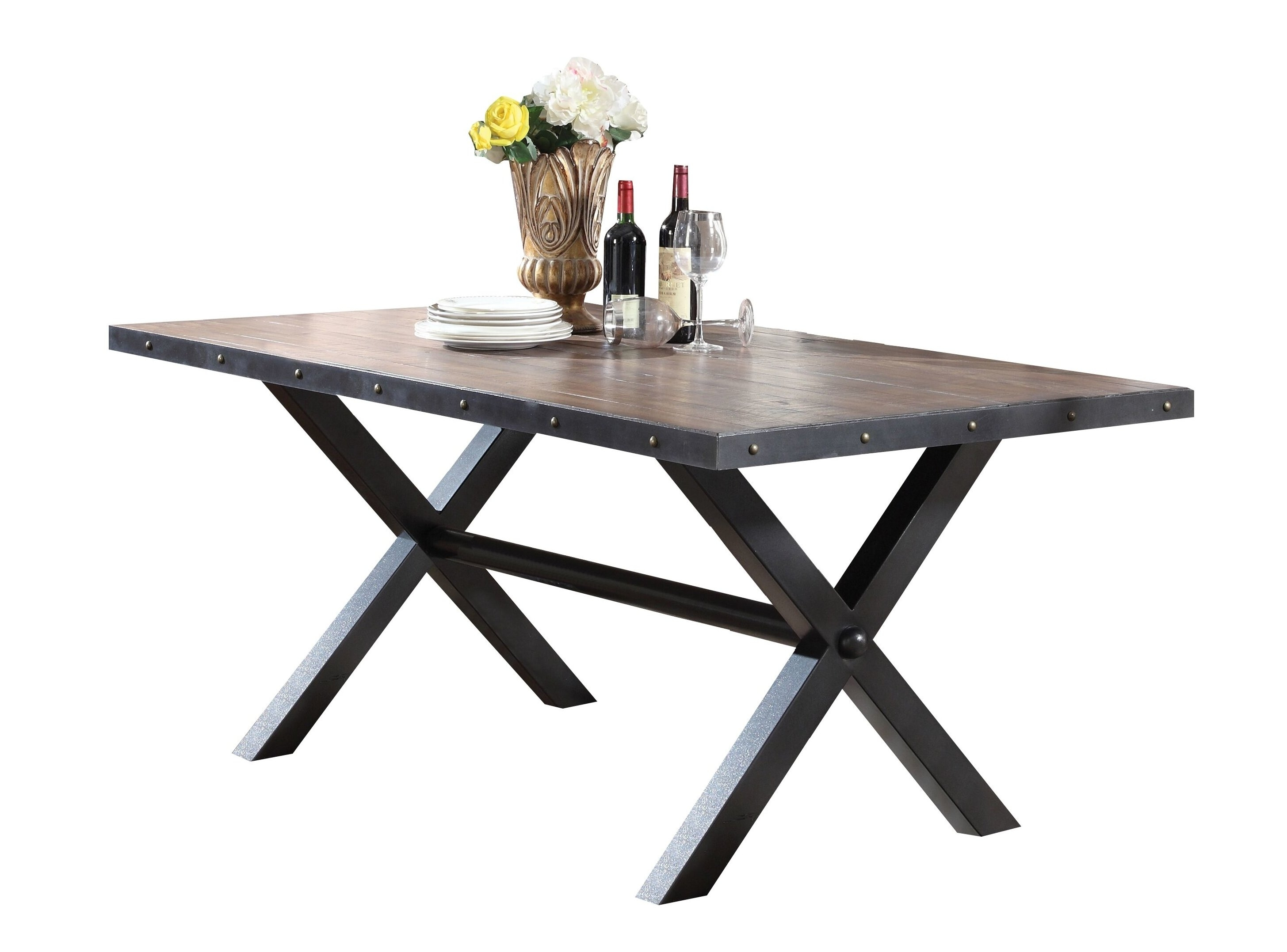 Loon Peak Carly Dining Table | Wayfair Regarding 2017 Carly Rectangle Dining Tables (Image 16 of 20)
