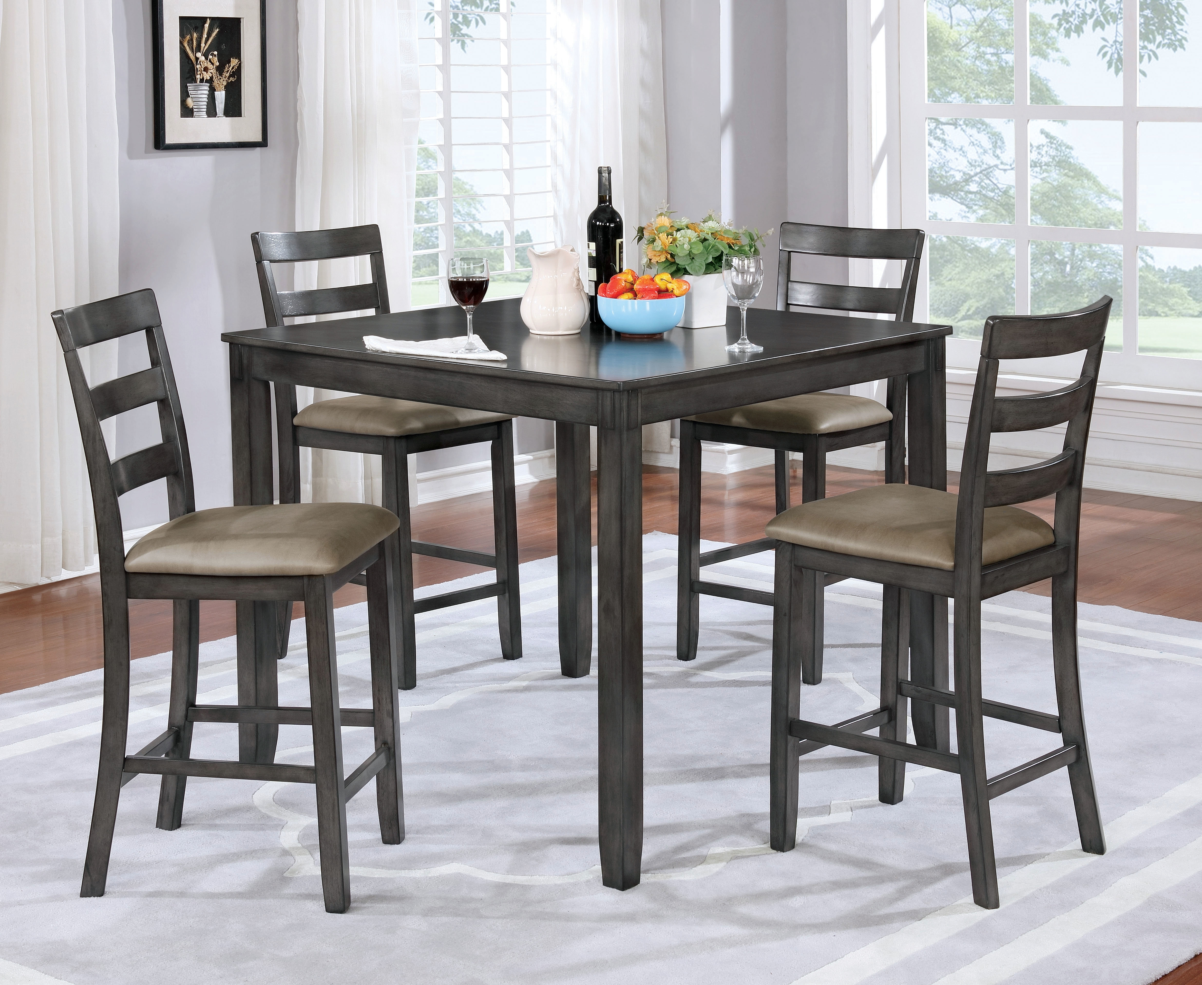 Loon Peak Dawkins 5 Piece Dining Set | Wayfair With Regard To Newest Cora 5 Piece Dining Sets (Image 16 of 20)