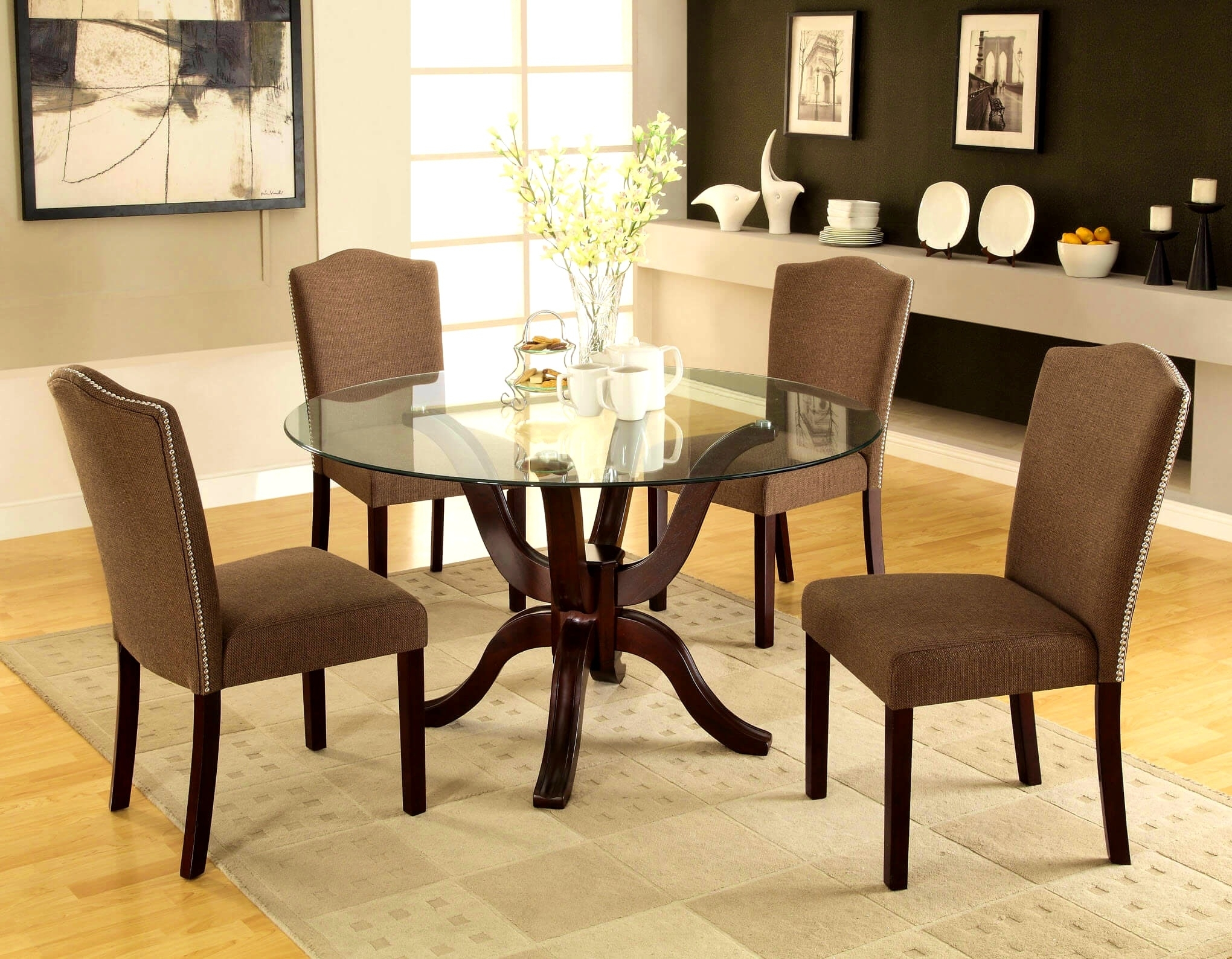Macy's Round Dining Table Set • Table Setting Design In Recent Macie Round Dining Tables (Image 18 of 20)
