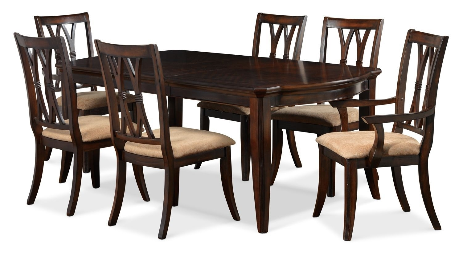 Magnificent 5 Piece Dining Set Wood Breakfast Furniture 4 Chairs And Pertaining To Most Recent Leon 7 Piece Dining Sets (View 7 of 20)