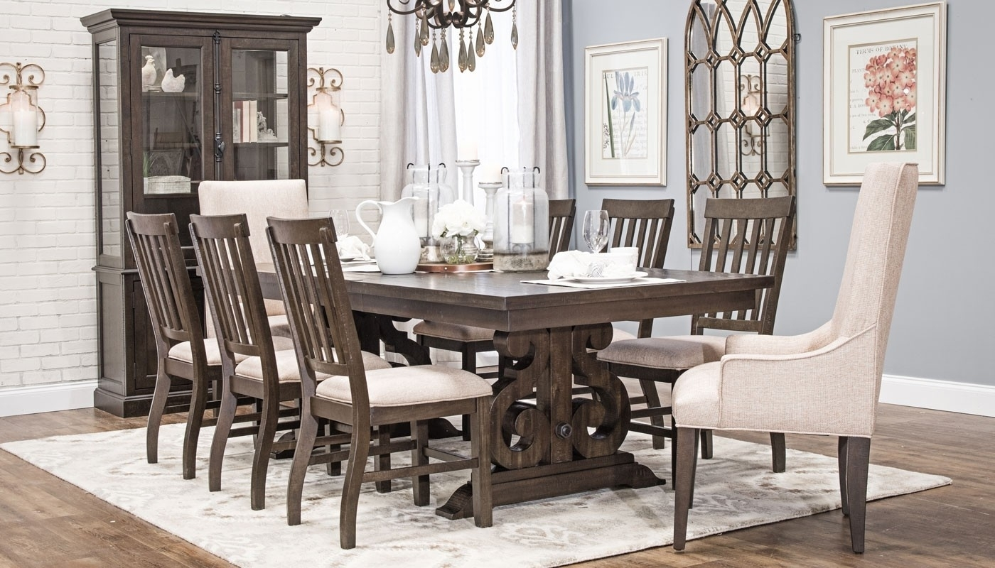Magnolia Dining Collection – Home Zone Furniture | Dining Room Intended For 2018 Magnolia Home Double Pedestal Dining Tables (Photo 4 of 20)