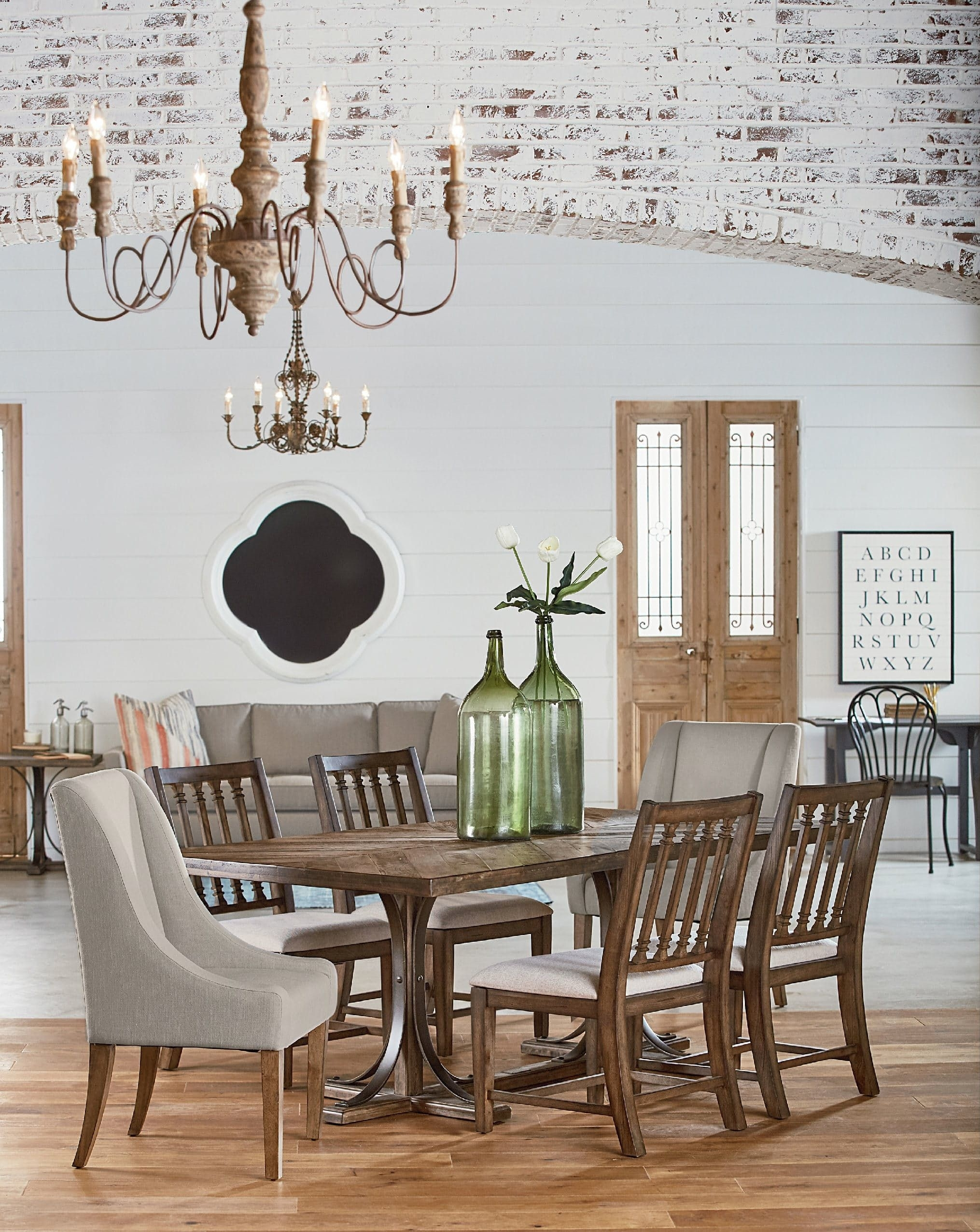Magnolia Home – Iron Trestle Table | Shopping For New House Inside 2017 Magnolia Home Sawbuck Dining Tables (Image 11 of 20)