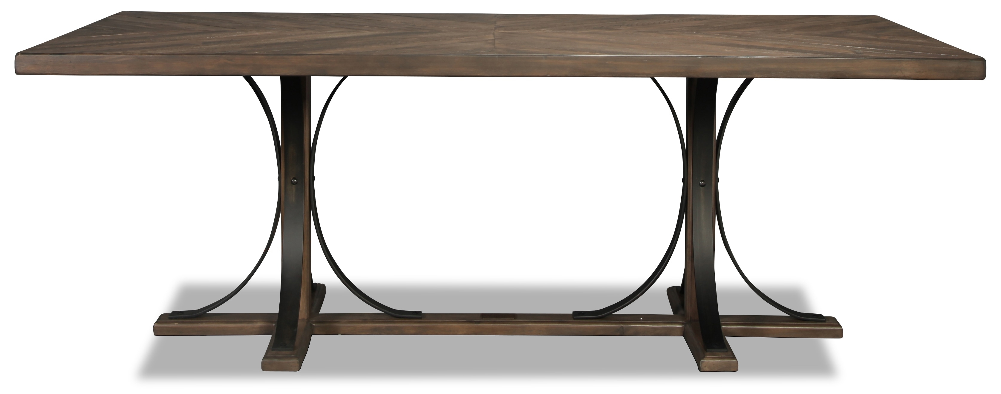 Magnolia Home Traditional Iron Trestle Table | In Best And Newest Magnolia Home Sawbuck Dining Tables (Image 14 of 20)