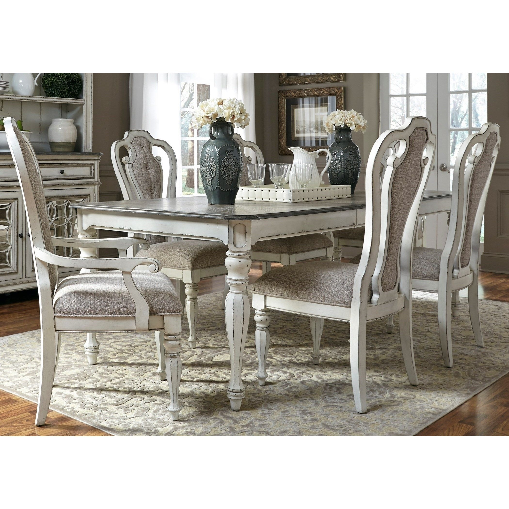Magnolia Manor Dining 7 Piece Rectangular Table Set With Leaf Intended For 2018 Crawford 7 Piece Rectangle Dining Sets (Photo 12 of 20)