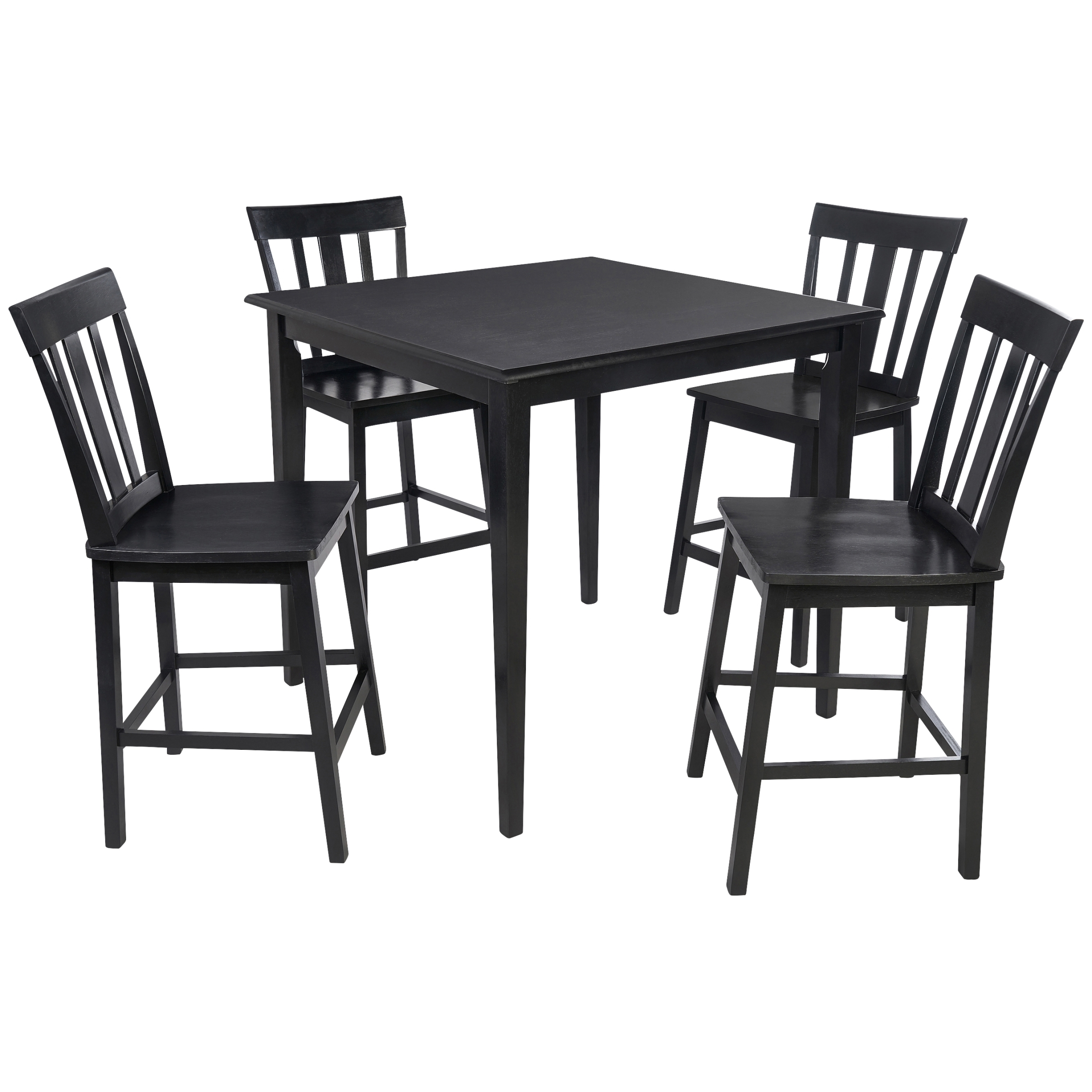 Mainstays 5 Piece Mission Counter Height Dining Set – Walmart With Regard To Most Up To Date Pierce 5 Piece Counter Sets (Photo 16 of 20)