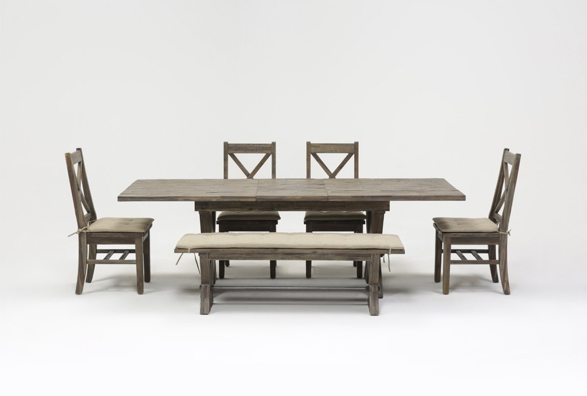 Mallard 6 Piece Extension Dining Set | Living Spaces Throughout Most Popular Mallard 7 Piece Extension Dining Sets (Image 9 of 20)