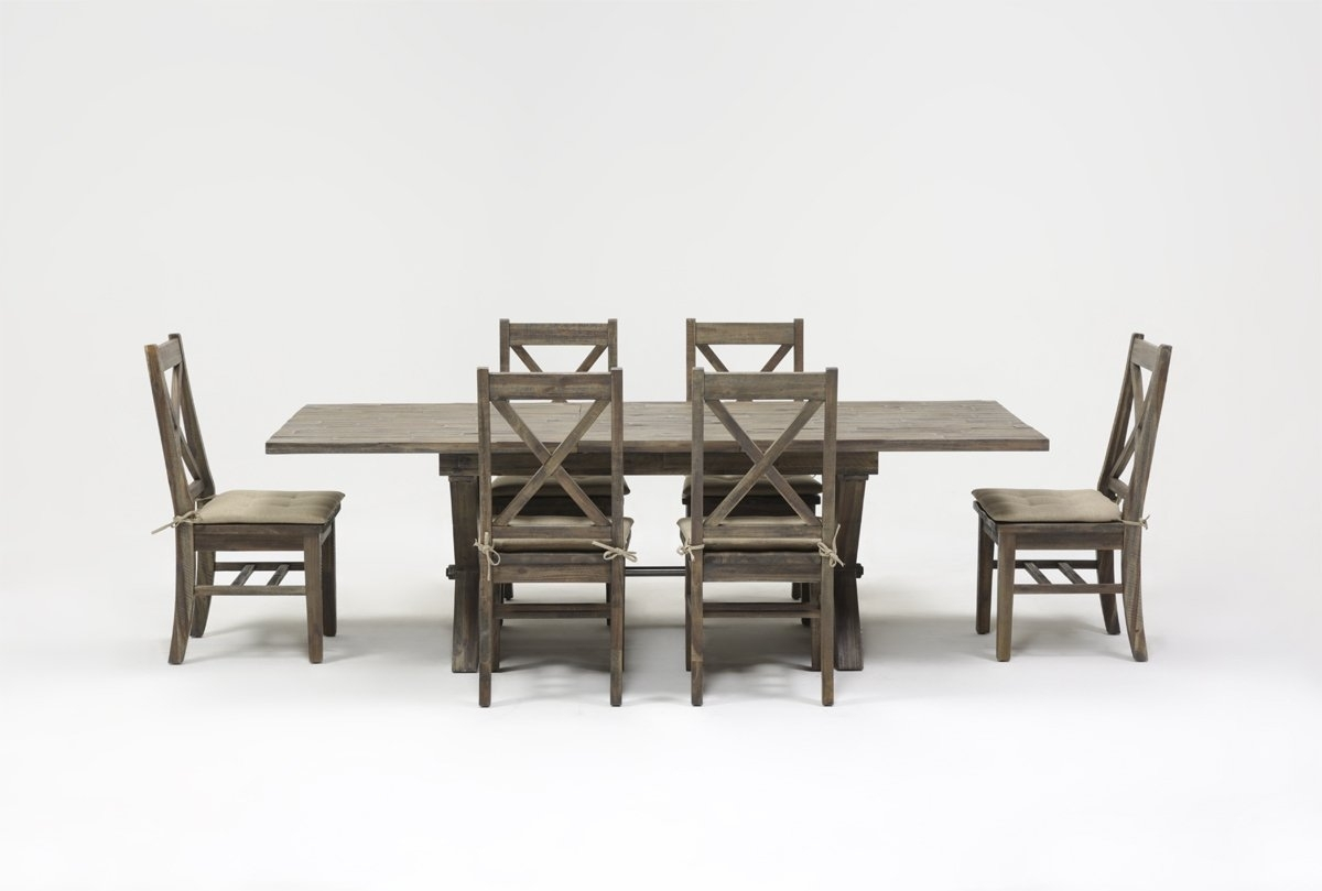 Mallard 7 Piece Extension Dining Set | Living Spaces Inside Best And Newest Mallard 6 Piece Extension Dining Sets (View 11 of 20)