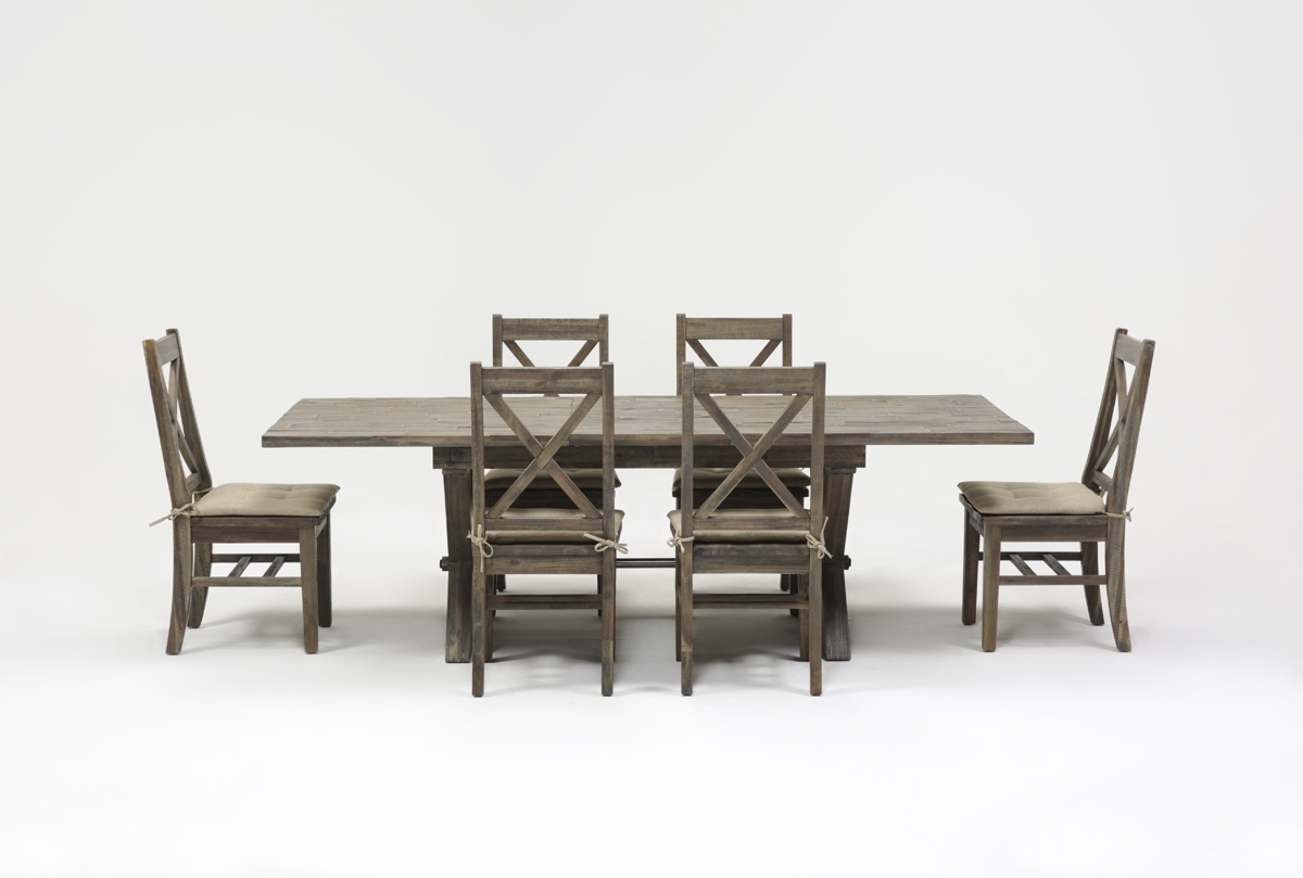 Mallard 7 Piece Extension Dining Set | Living Spaces Pertaining To Most Up To Date Mallard Extension Dining Tables (Image 14 of 20)