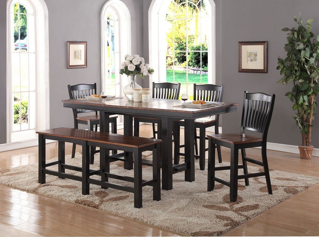 Manassa 6 Piece Extendable Solid Wood Dining Set In 2018 | Furniture Pertaining To Newest Market 7 Piece Dining Sets With Host And Side Chairs (Photo 7 of 20)