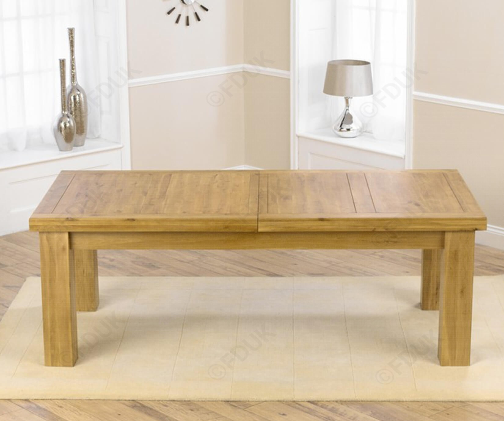 Mark Harris Laurent | Laurent Solid Oak Extending Dining Table Intended For Current Laurent Rectangle Dining Tables (Image 15 of 20)