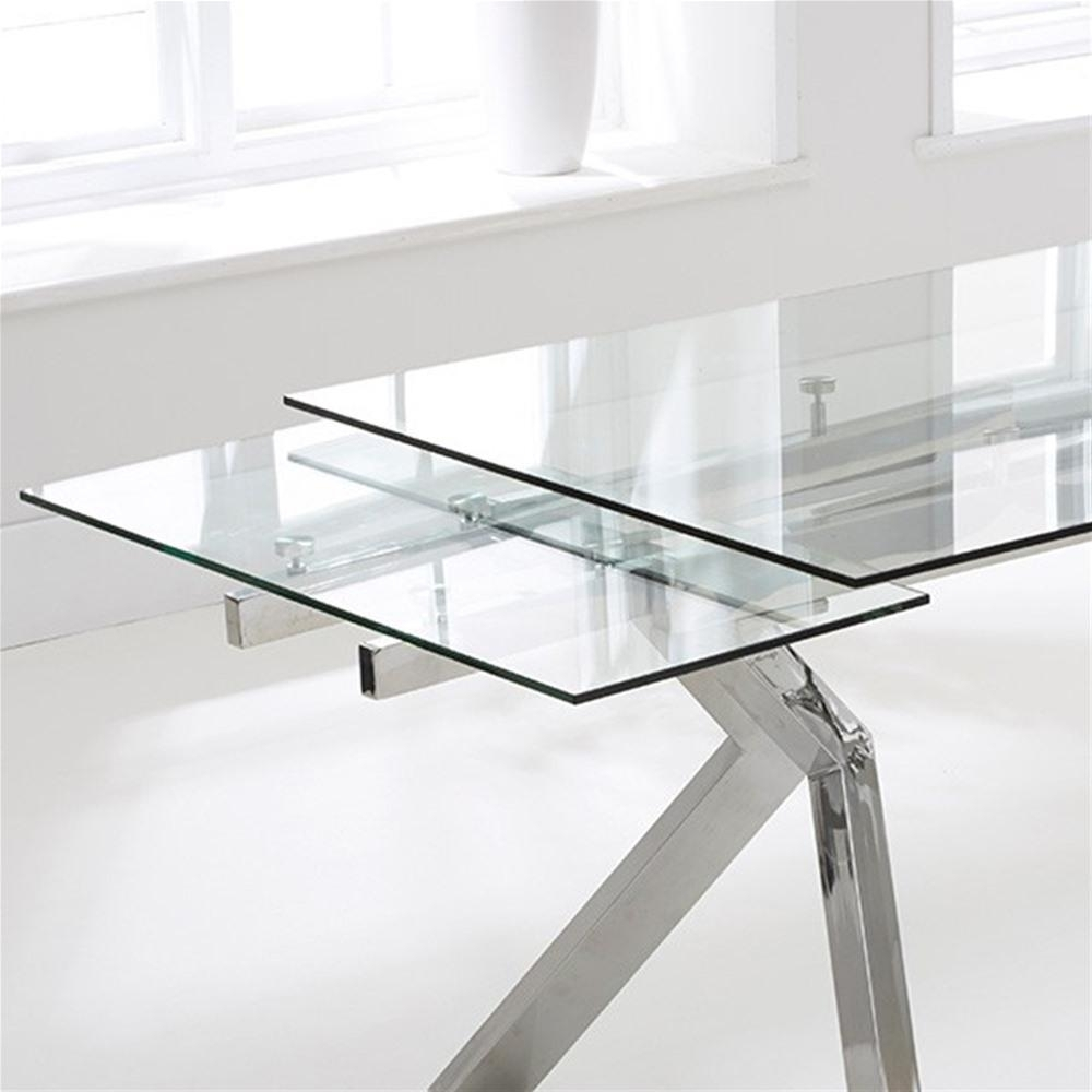 Mark Harris Palazzo 200Cm Glass Extending Dining Table | Internet Throughout Best And Newest Palazzo Rectangle Dining Tables (View 16 of 20)