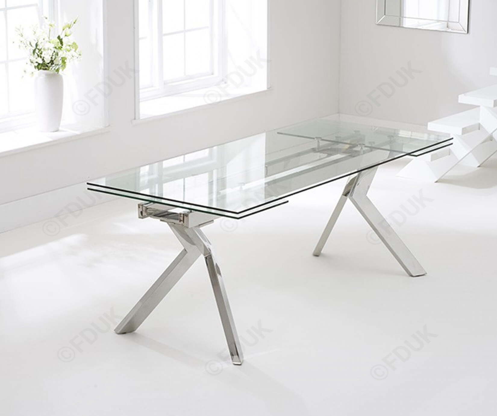 Mark Harris Palazzo | Palazzo Glass Extending Dining Table Throughout Most Popular Palazzo Rectangle Dining Tables (View 7 of 20)