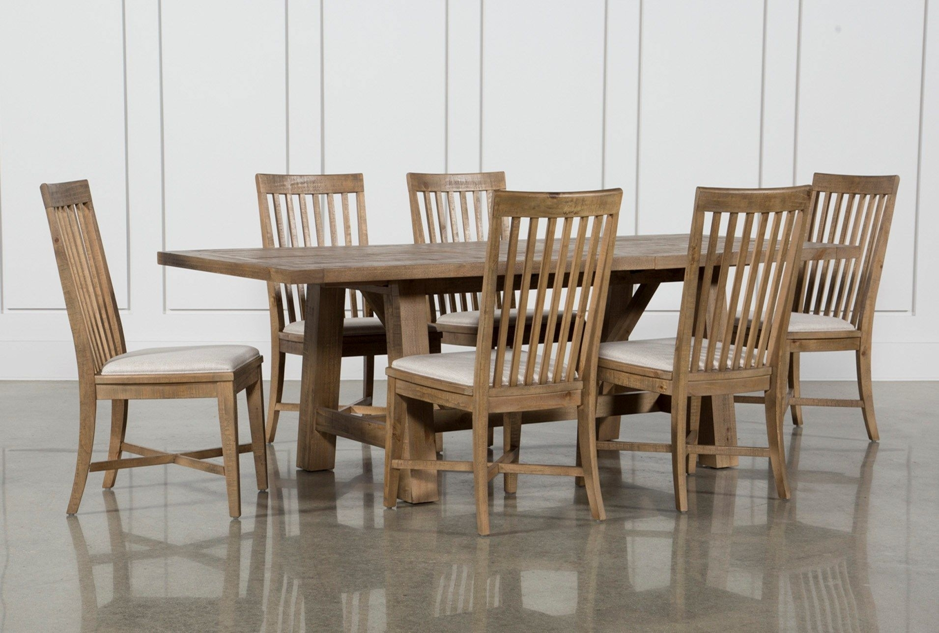 Market 7 Piece Dining Set With Side Chairs | Kitchen | Pinterest Regarding Recent Norwood 7 Piece Rectangular Extension Dining Sets With Bench & Uph Side Chairs (Photo 15 of 20)
